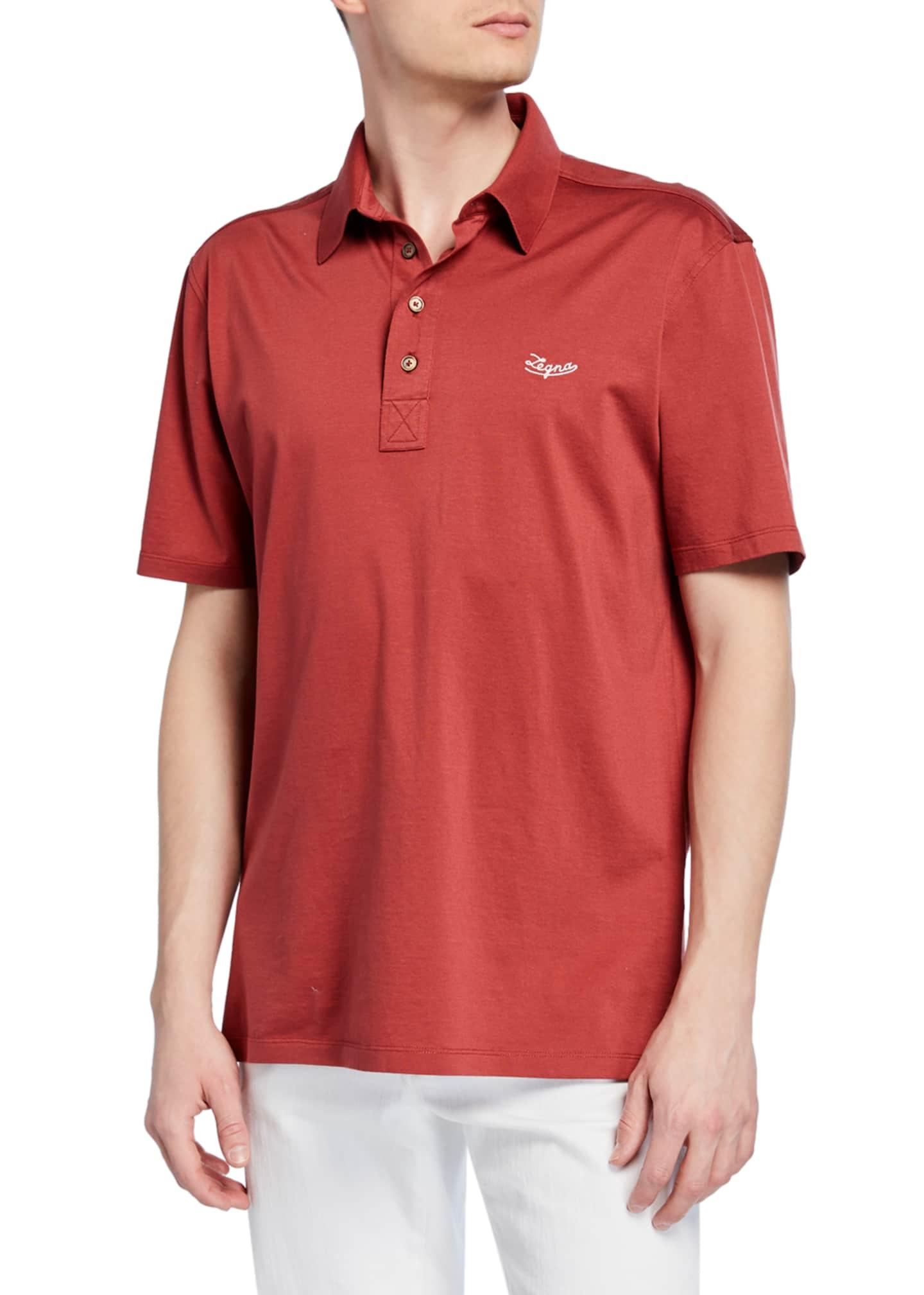 Ermenegildo Zegna Men's Mercerized Cotton Polo Shirt