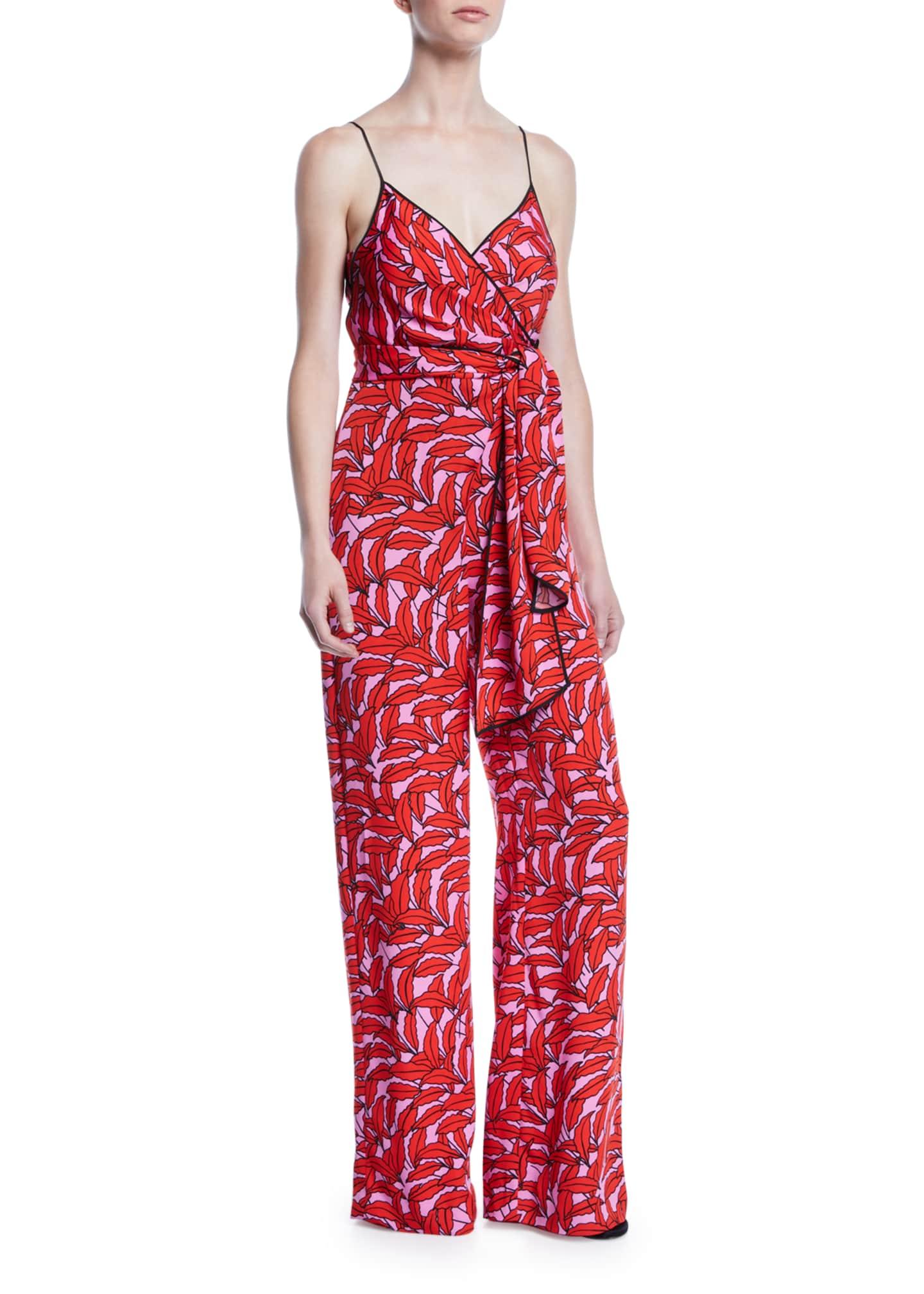 Diane von Furstenberg Barry Printed Stretch-Viscose Tie-Front