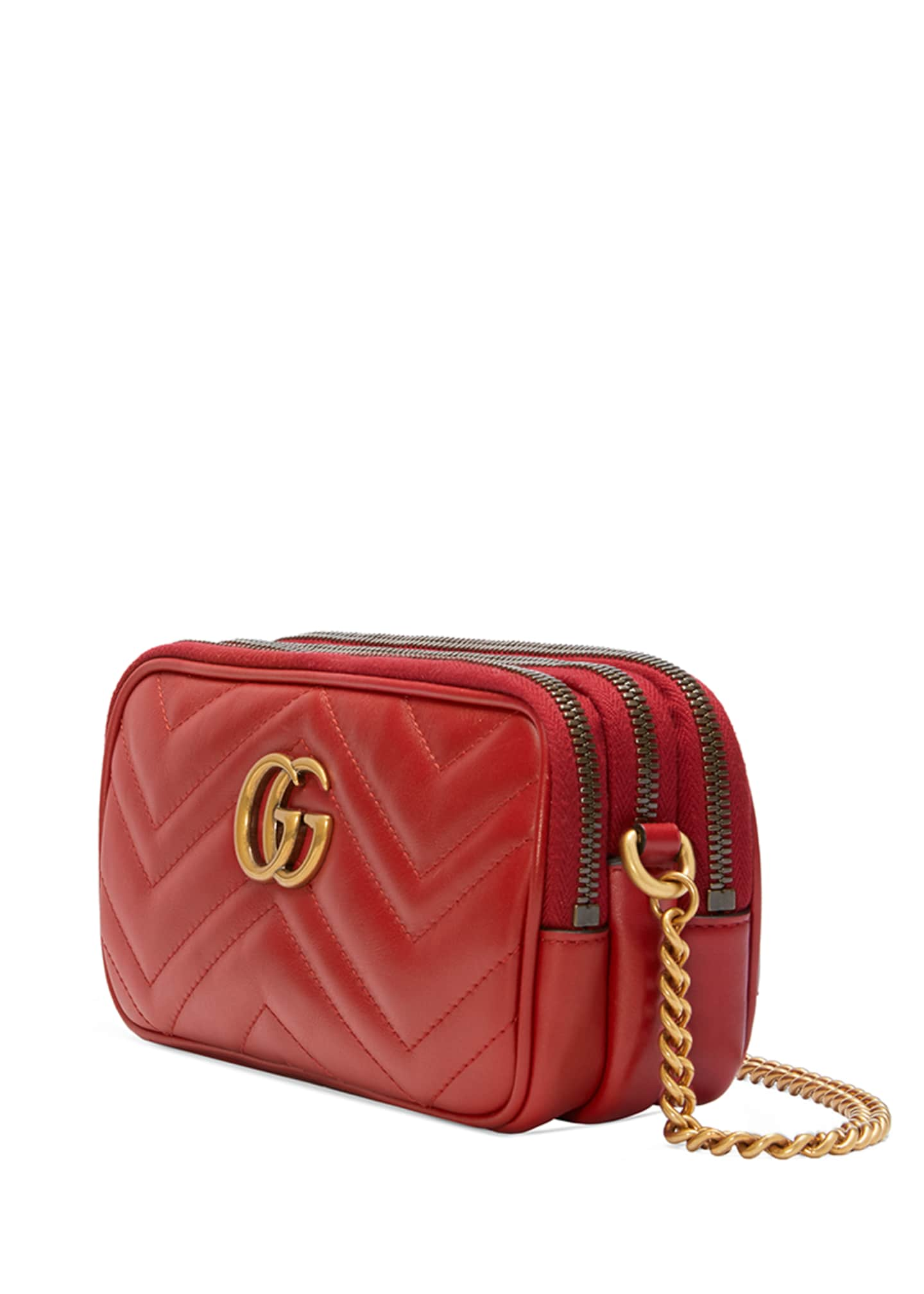 Image 2 of 4: GG Marmont Mini Zip-Top Camera Case Bag