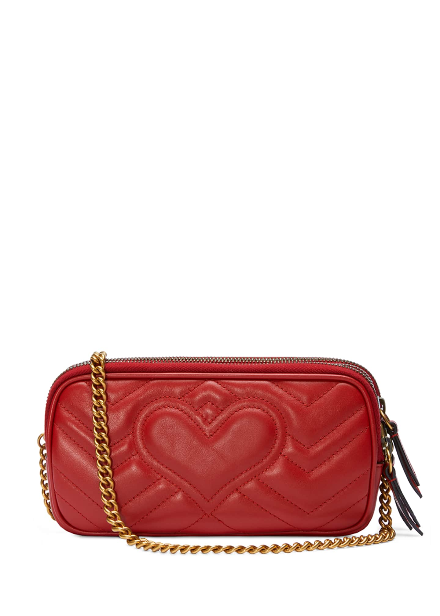 Image 3 of 4: GG Marmont Mini Zip-Top Camera Case Bag