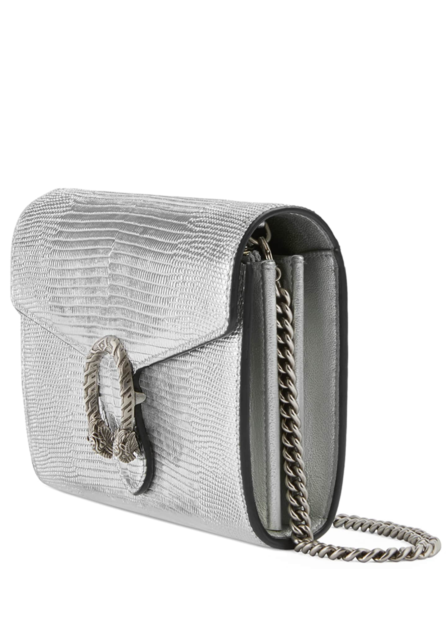 Image 2 of 4: Dionysus Metallic Chain Crossbody Bag