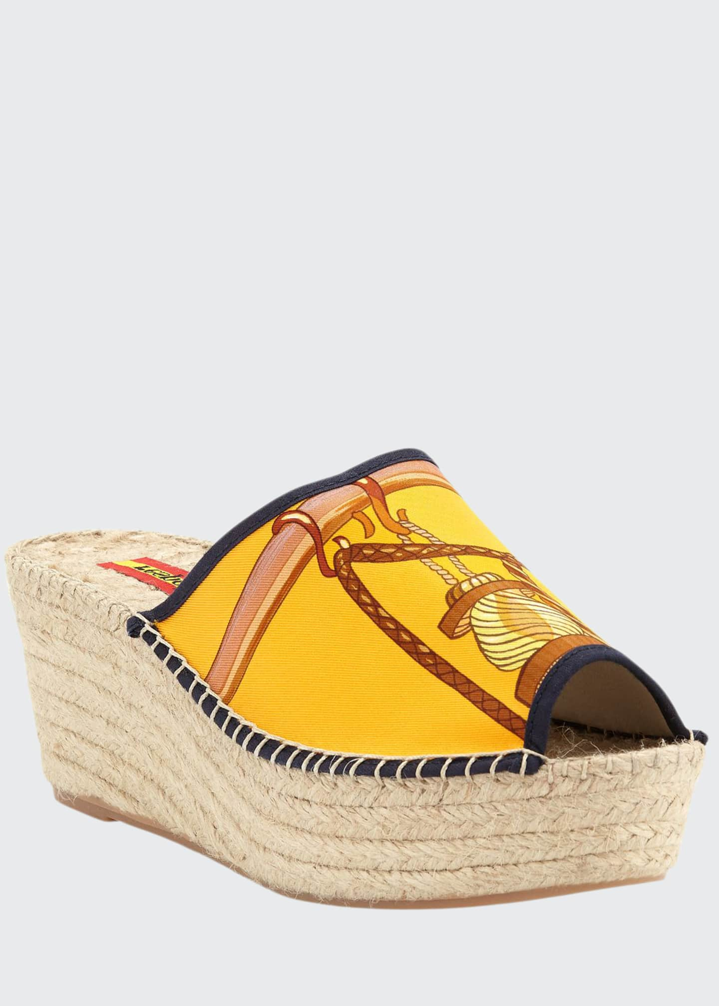 Respoke Charo Wedge Slide Espadrille Sandals