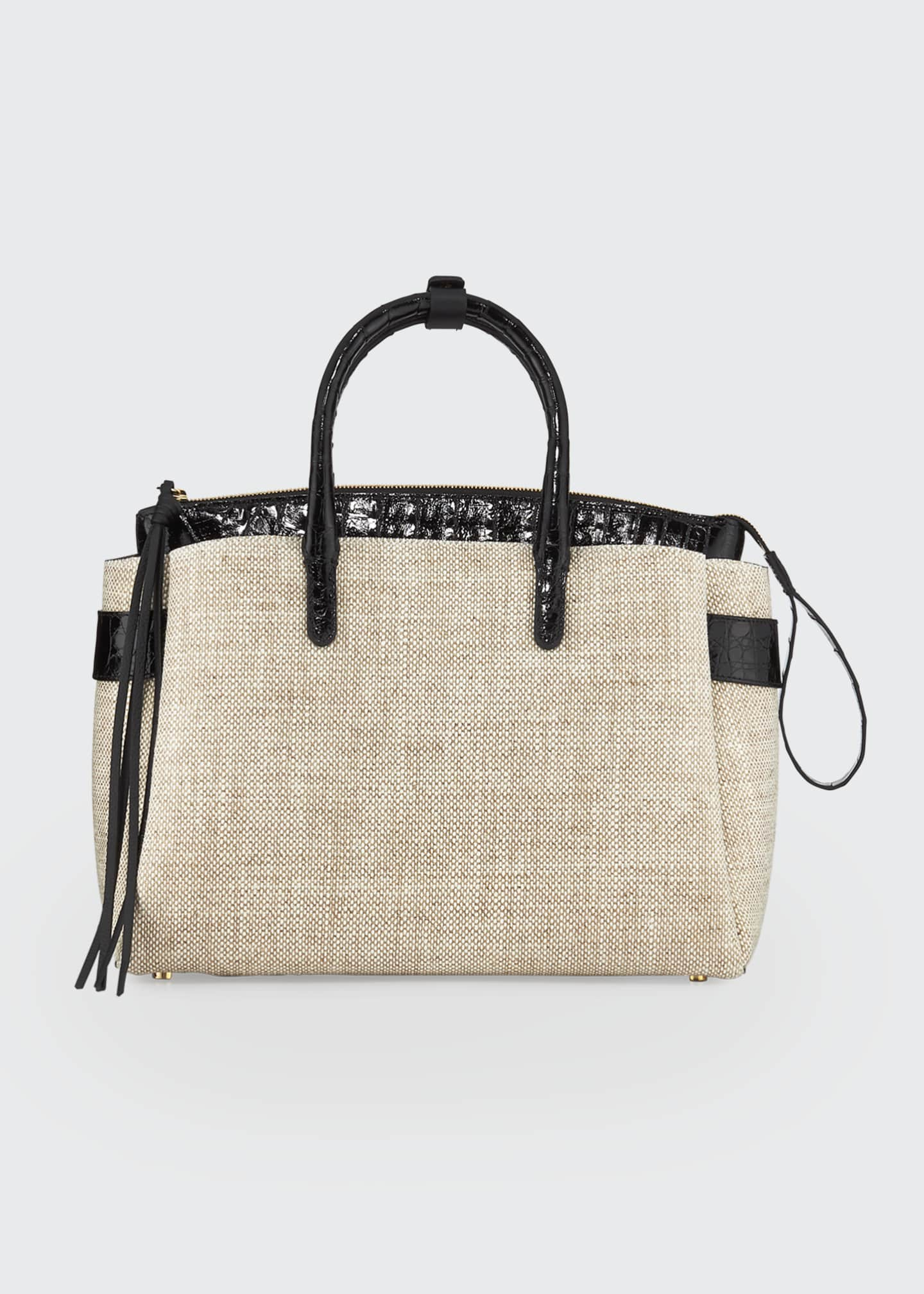 Nancy Gonzalez Cristie Medium Linen Tote Bag