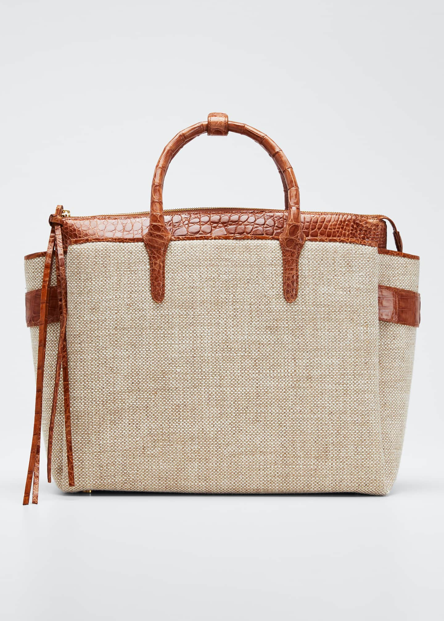 Image 1 of 5: Cristie Medium Linen Tote Bag