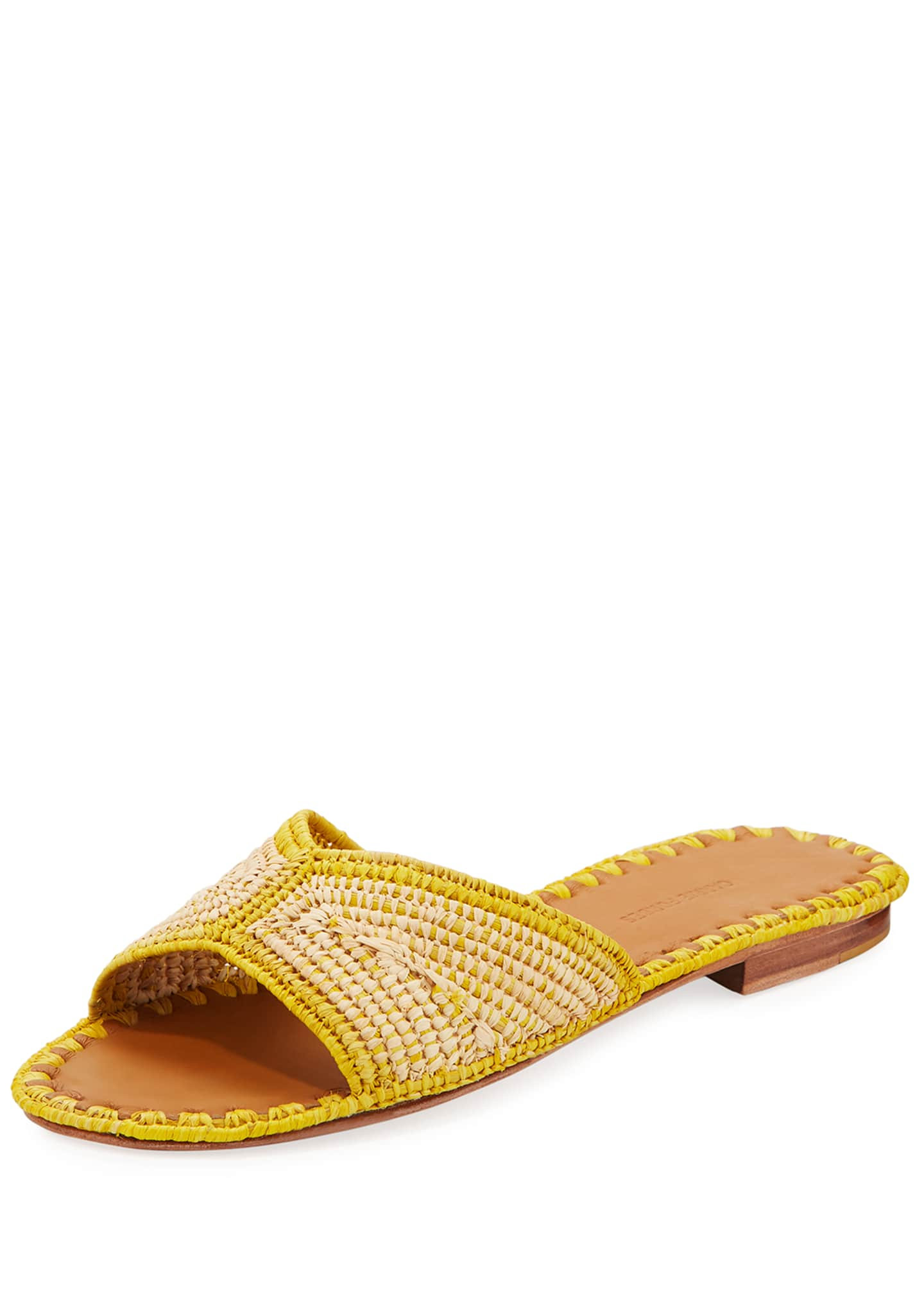 Carrie Forbes Salon Miste Woven Raffia Slide Sandals