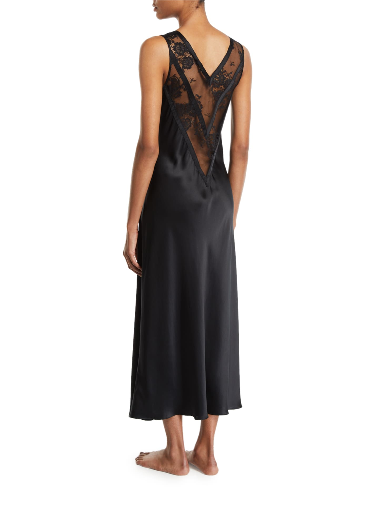 Image 2 of 2: Samui Lace V-Neck Nightgown