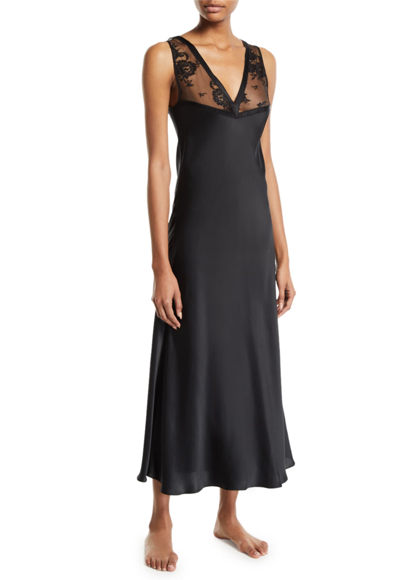 Image 1 of 2: Samui Lace V-Neck Nightgown