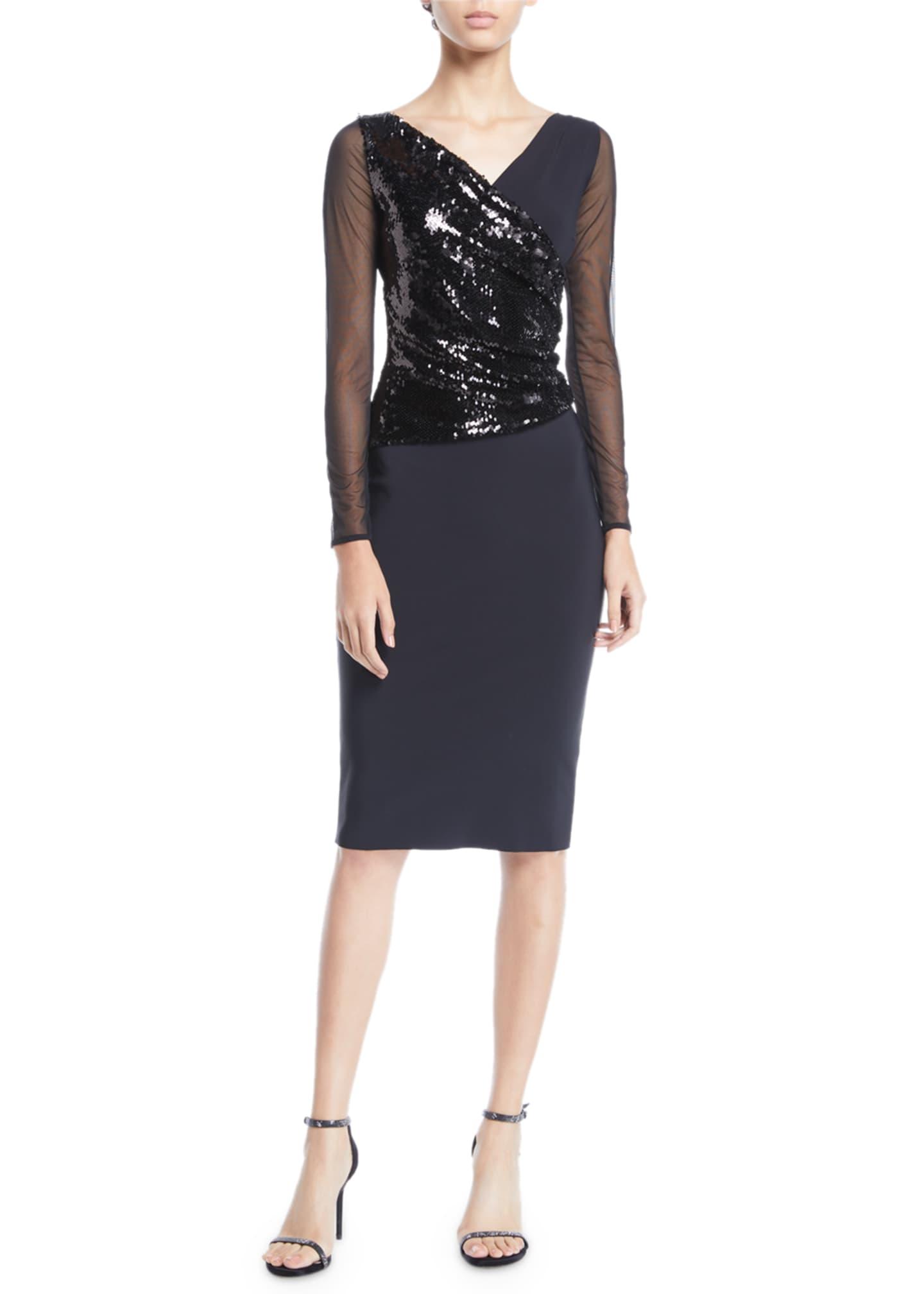 Chiara Boni La Petite Robe Hilaria Illusion Sparkle