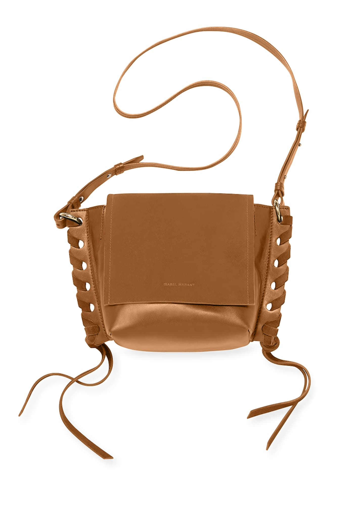 Image 3 of 3: Kleny Suede and Leather Crossbody Bag