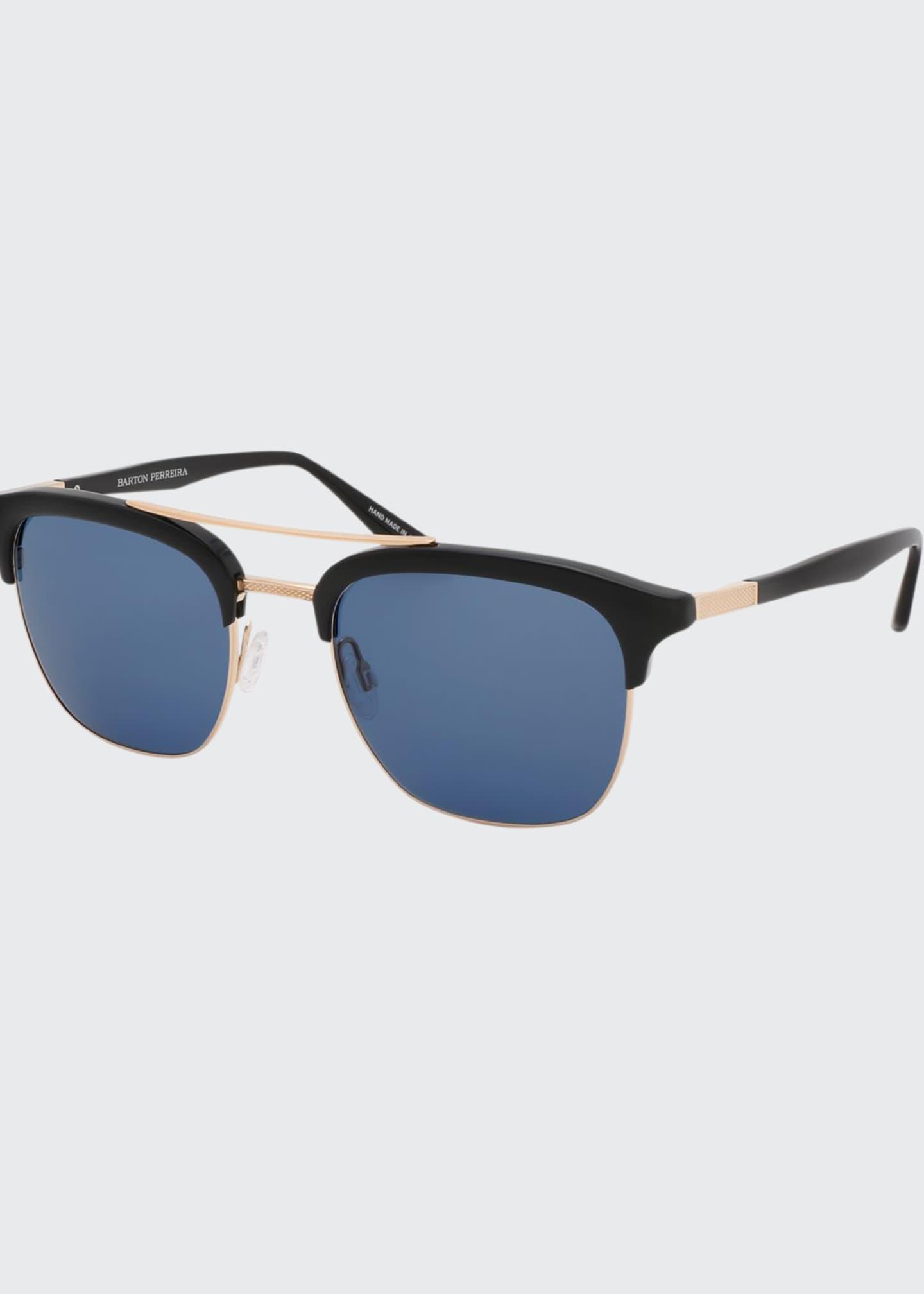 Barton Perreira Men's Lenox Acetate & Titanium Sunglasses