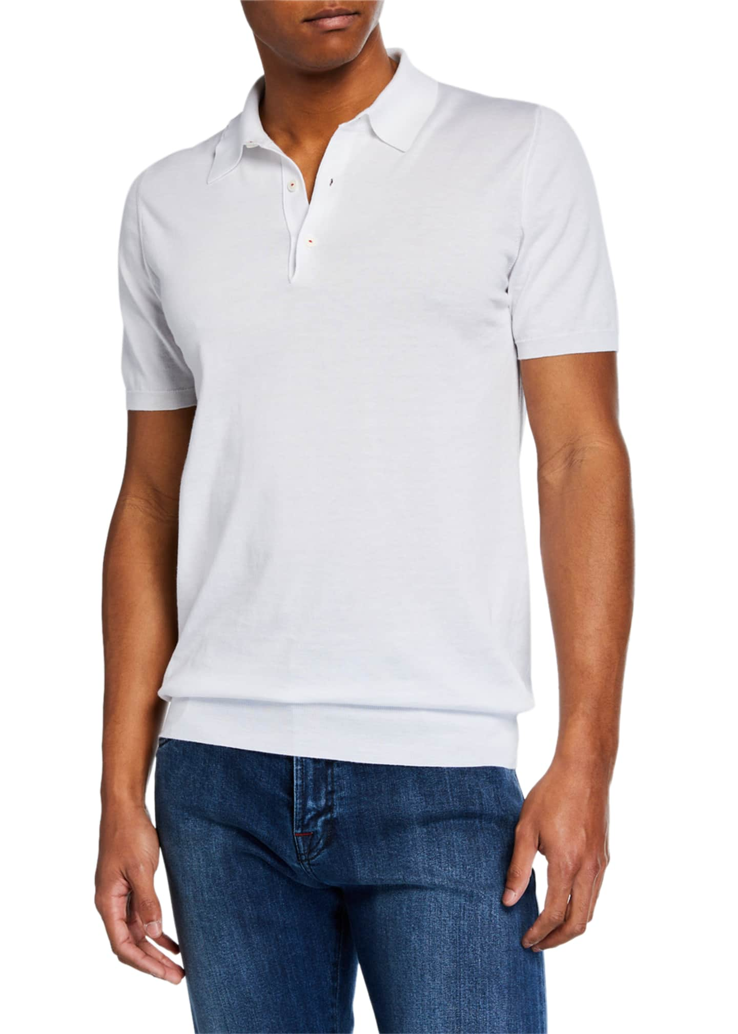 Kiton Men's 3B Fine Short-Sleeve Polo Shirt