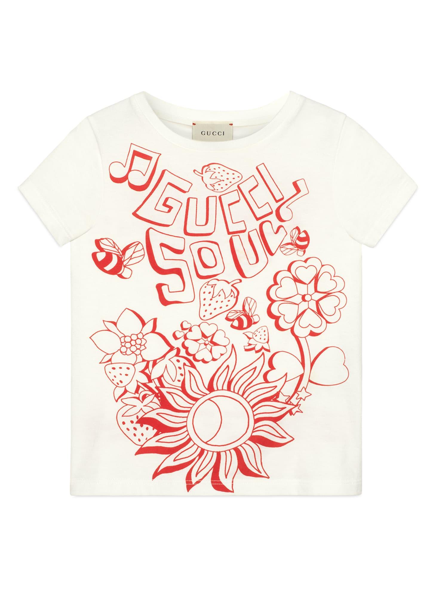 Gucci Soul & Love Short-Sleeve T-Shirt, Size 4-10