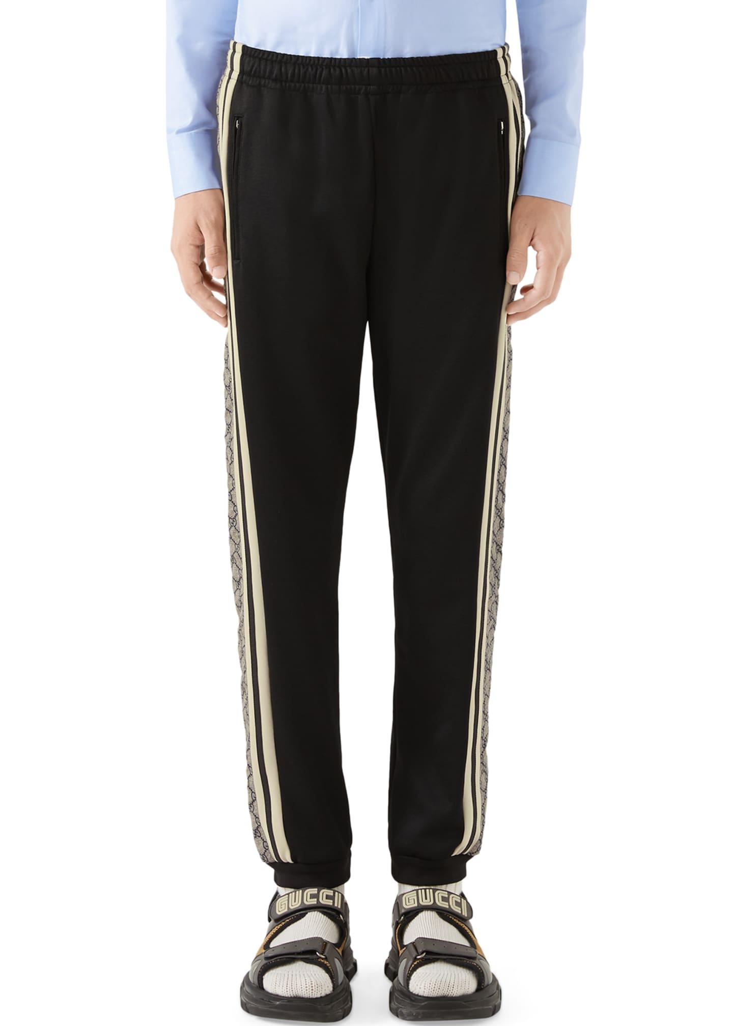 Gucci Men's Cut-And-Sewn GG-Logo Track Pants