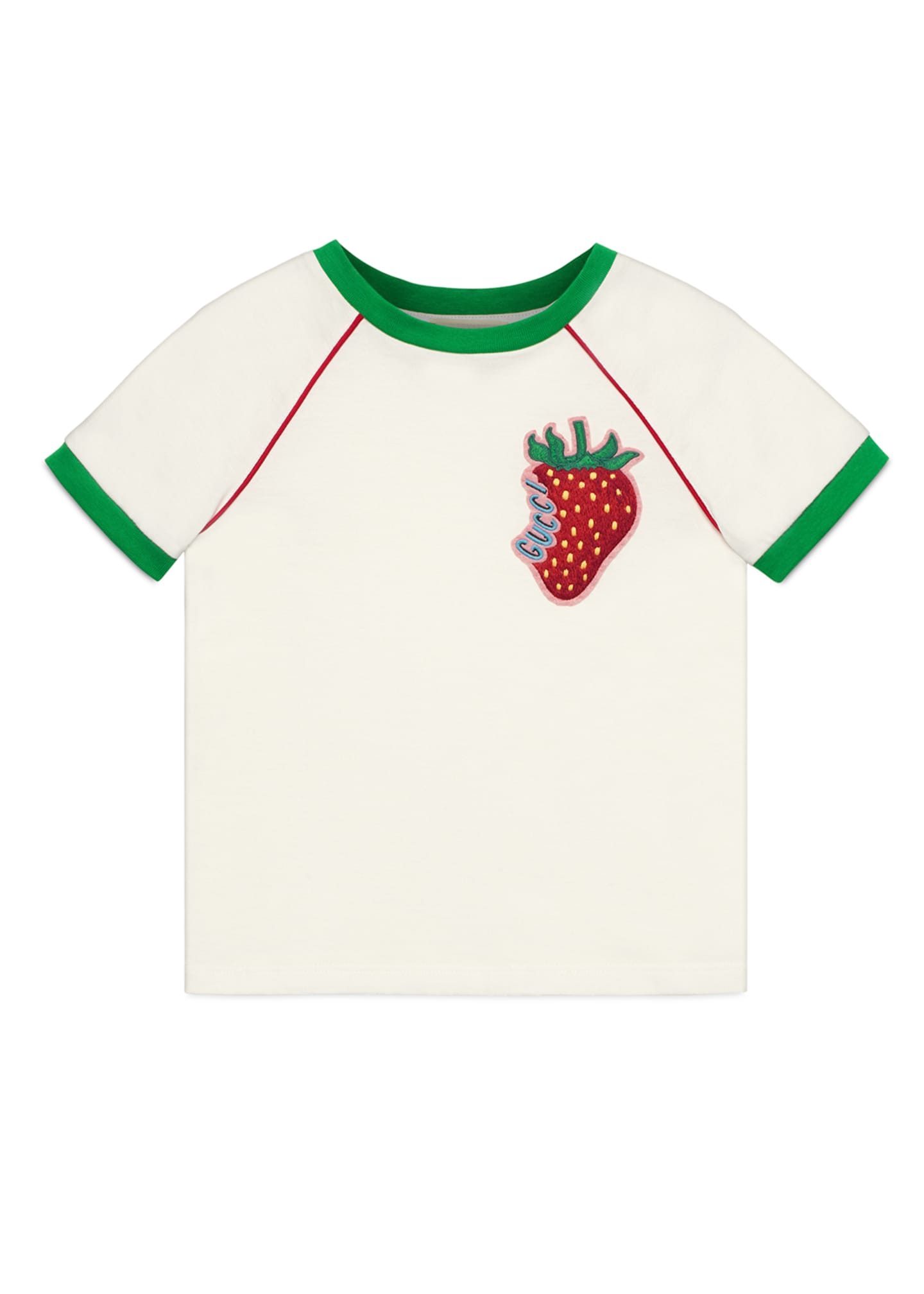 Gucci Strawberry Patch T-Shirt, Size 4-12