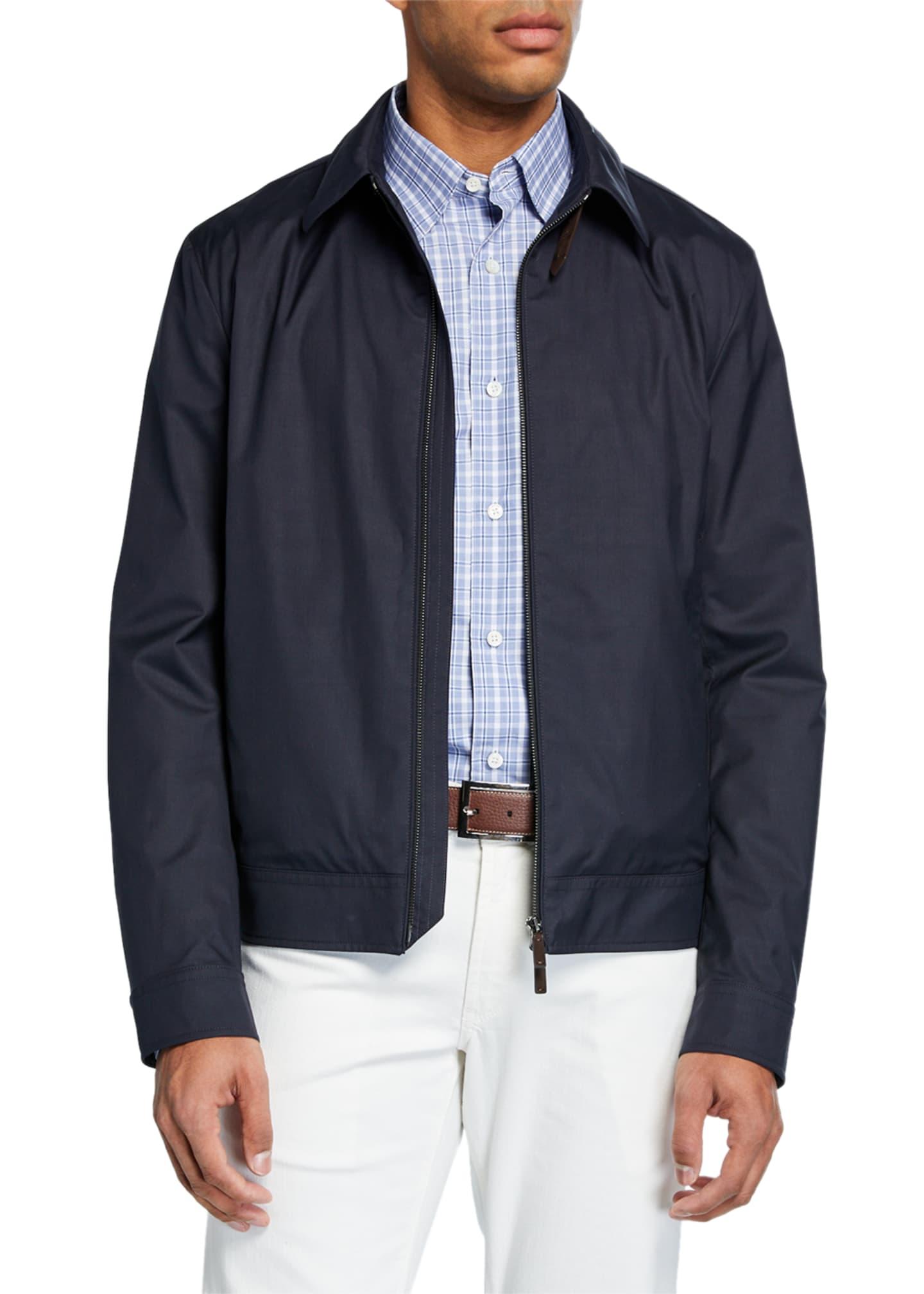 Ermenegildo Zegna Men's Barracuda Zip-Front Jacket