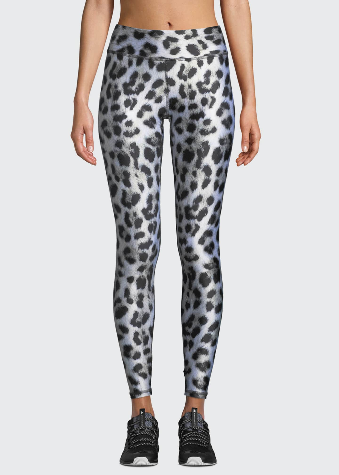 Terez Leopard-Print Tall Band Performance Leggings