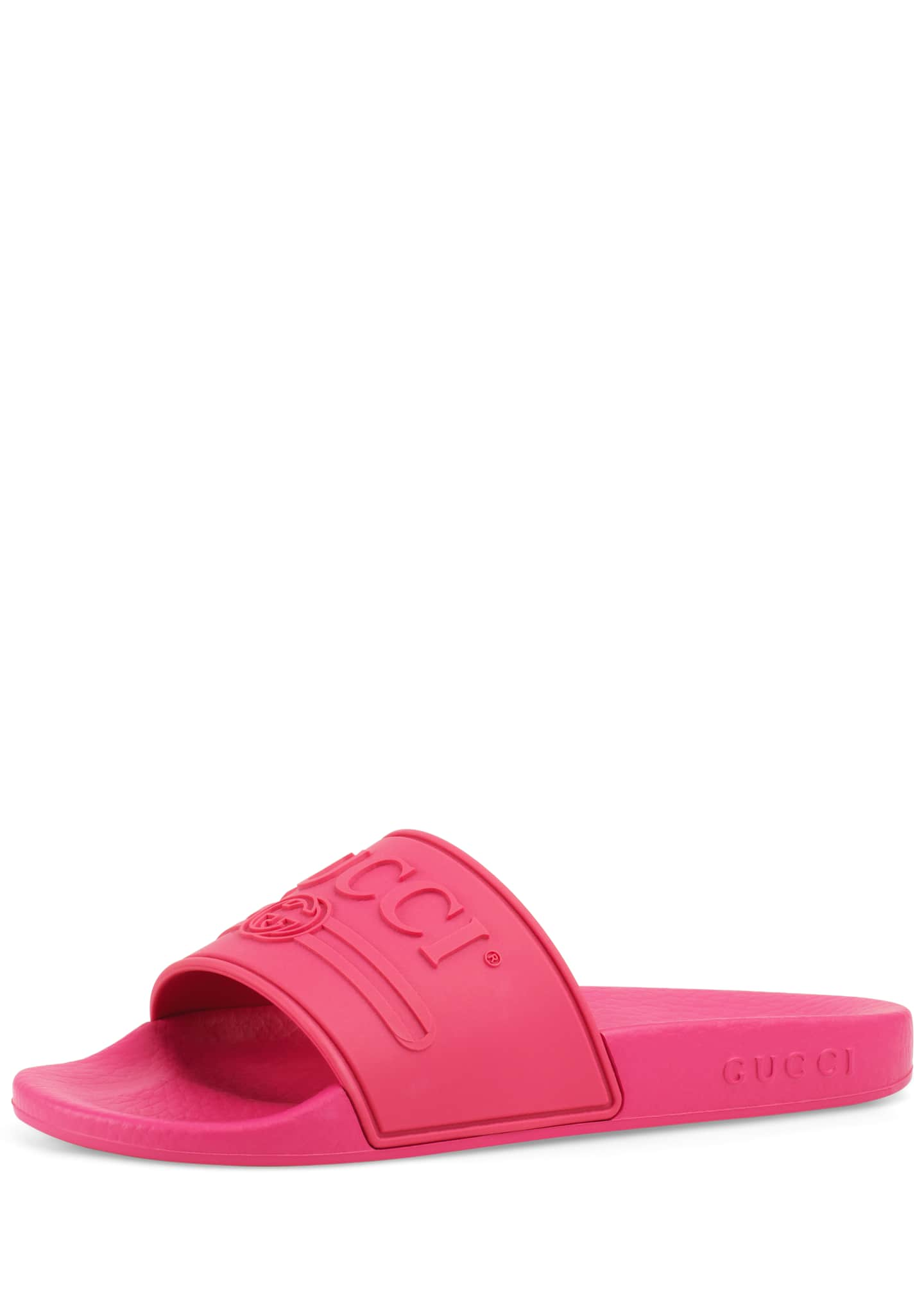 Image 1 of 1: Pursuit Gucci Rubber Slide Sandals, Toddler/Kids