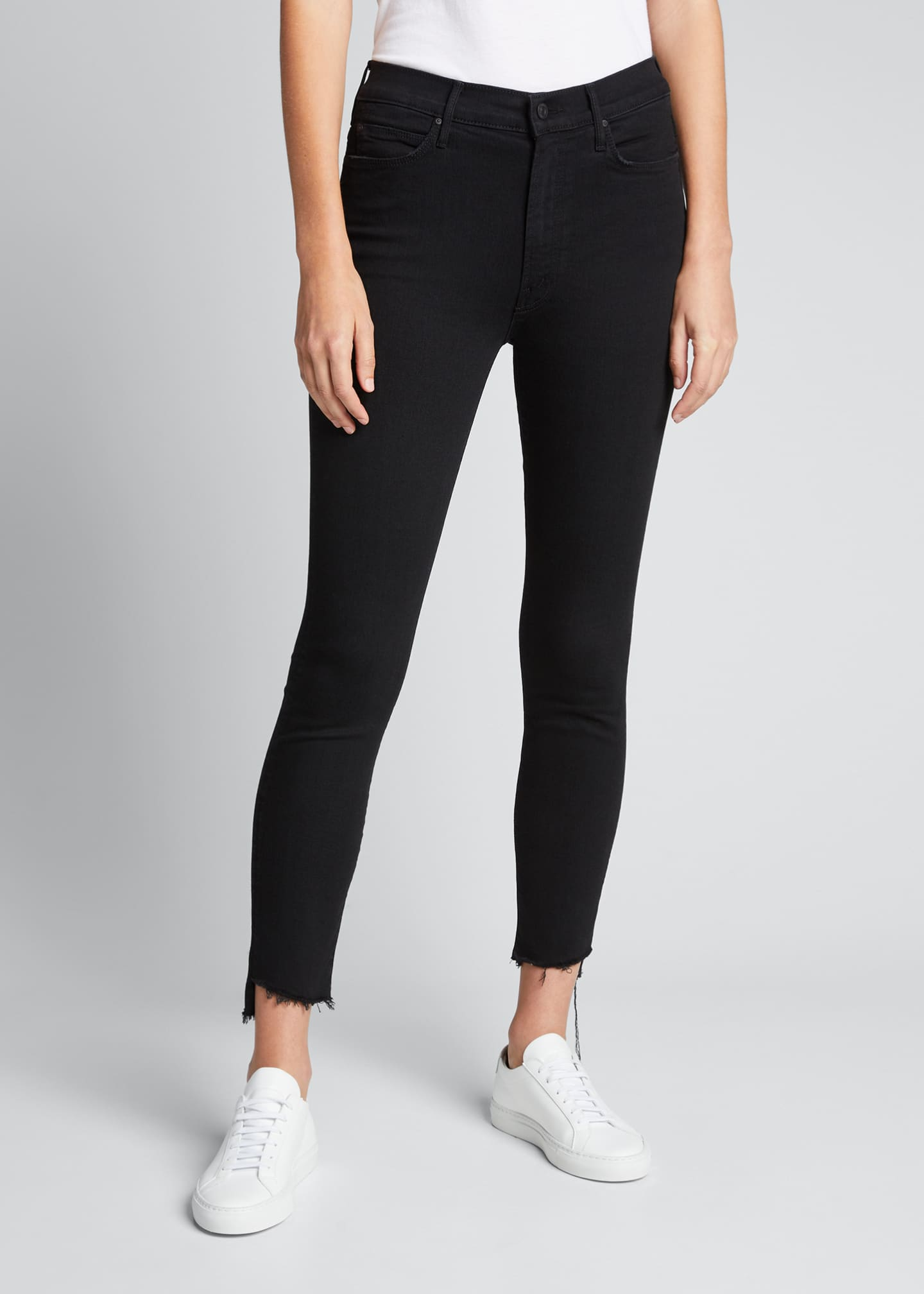 Image 3 of 3: Stunner Zip Ankle Step Fray Skinny Jeans