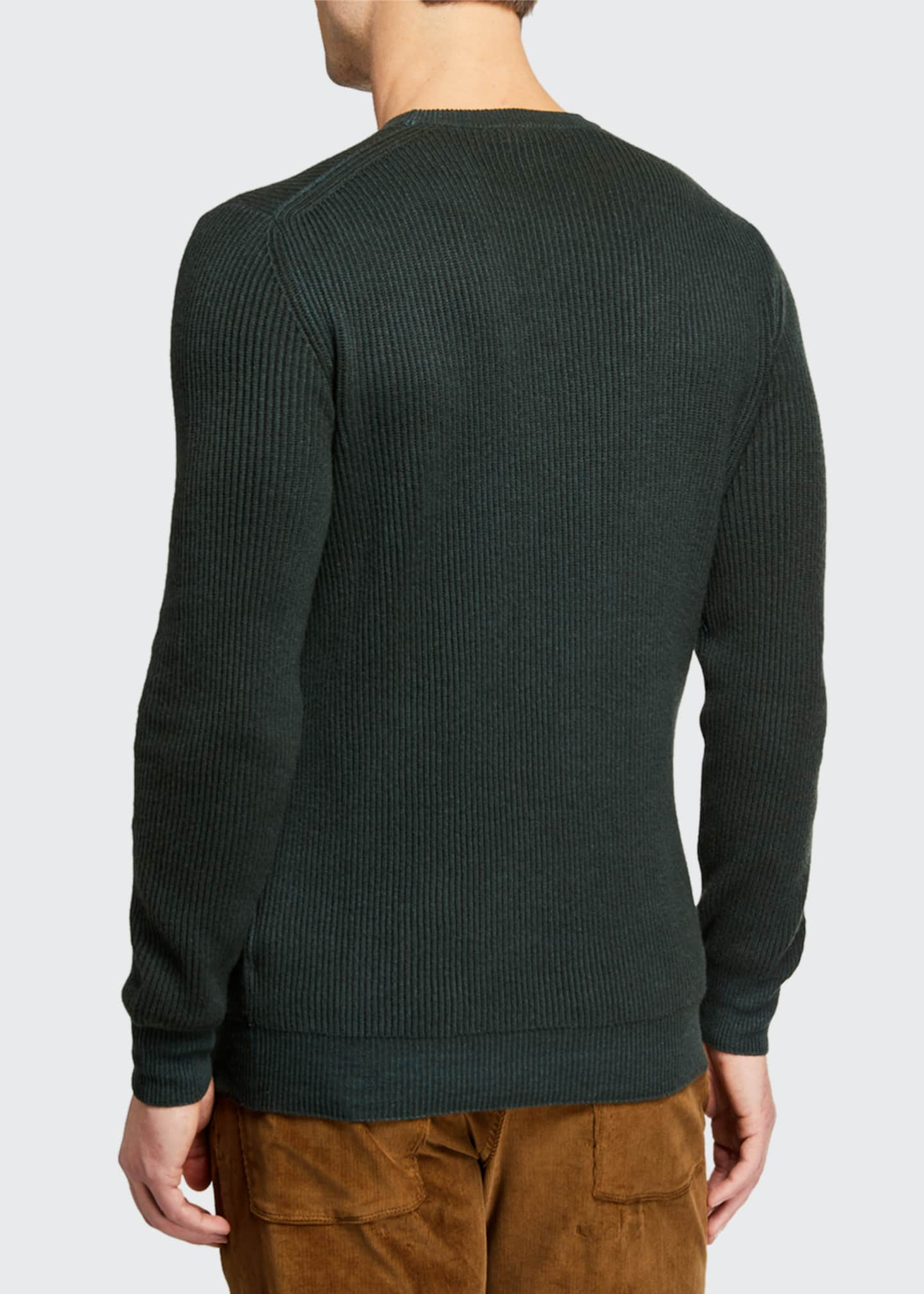 Image 2 of 2: Men's Girocollo Cash York Ribbed Sweater