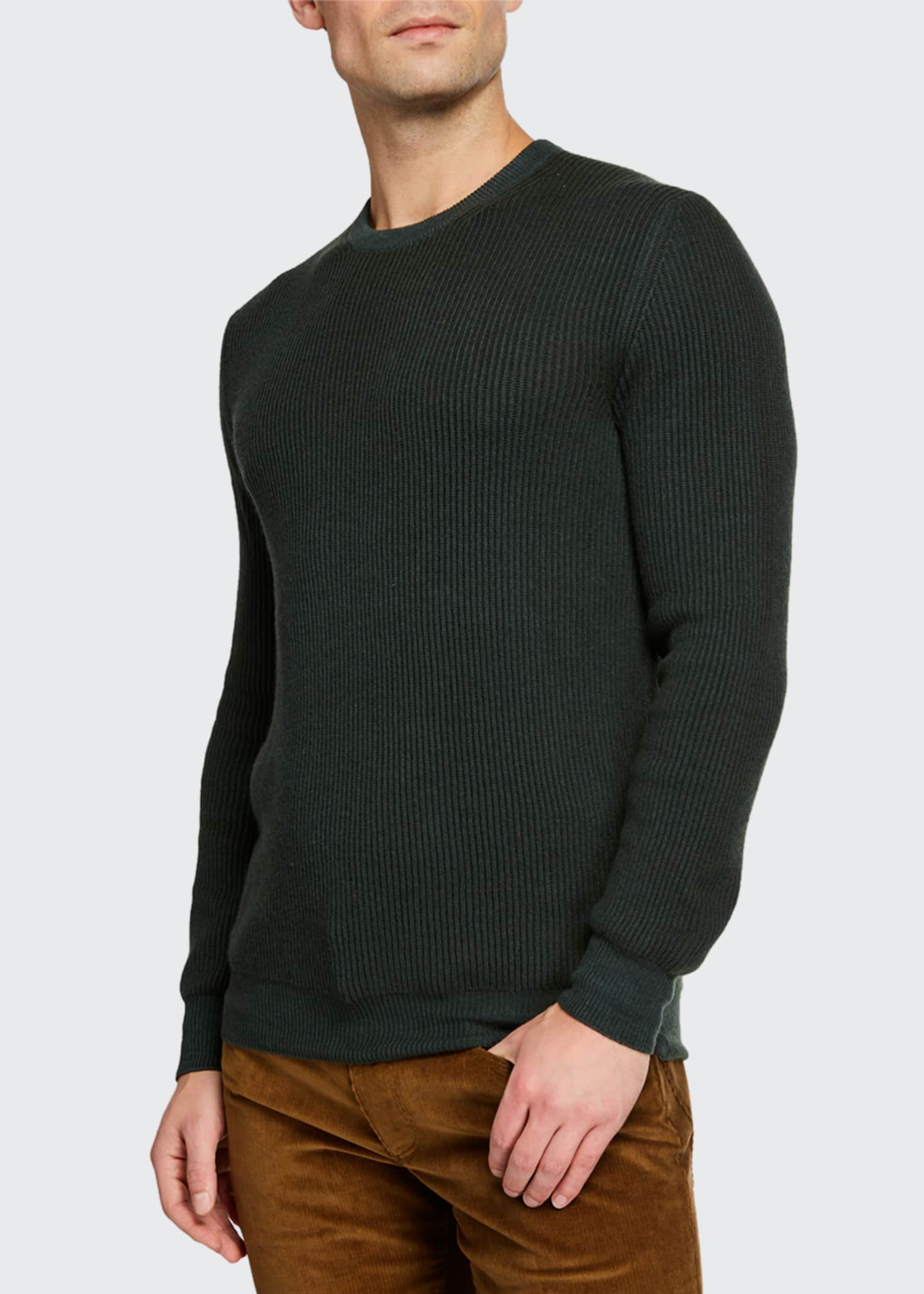 Men's Girocollo Cash York Ribbed Sweater
