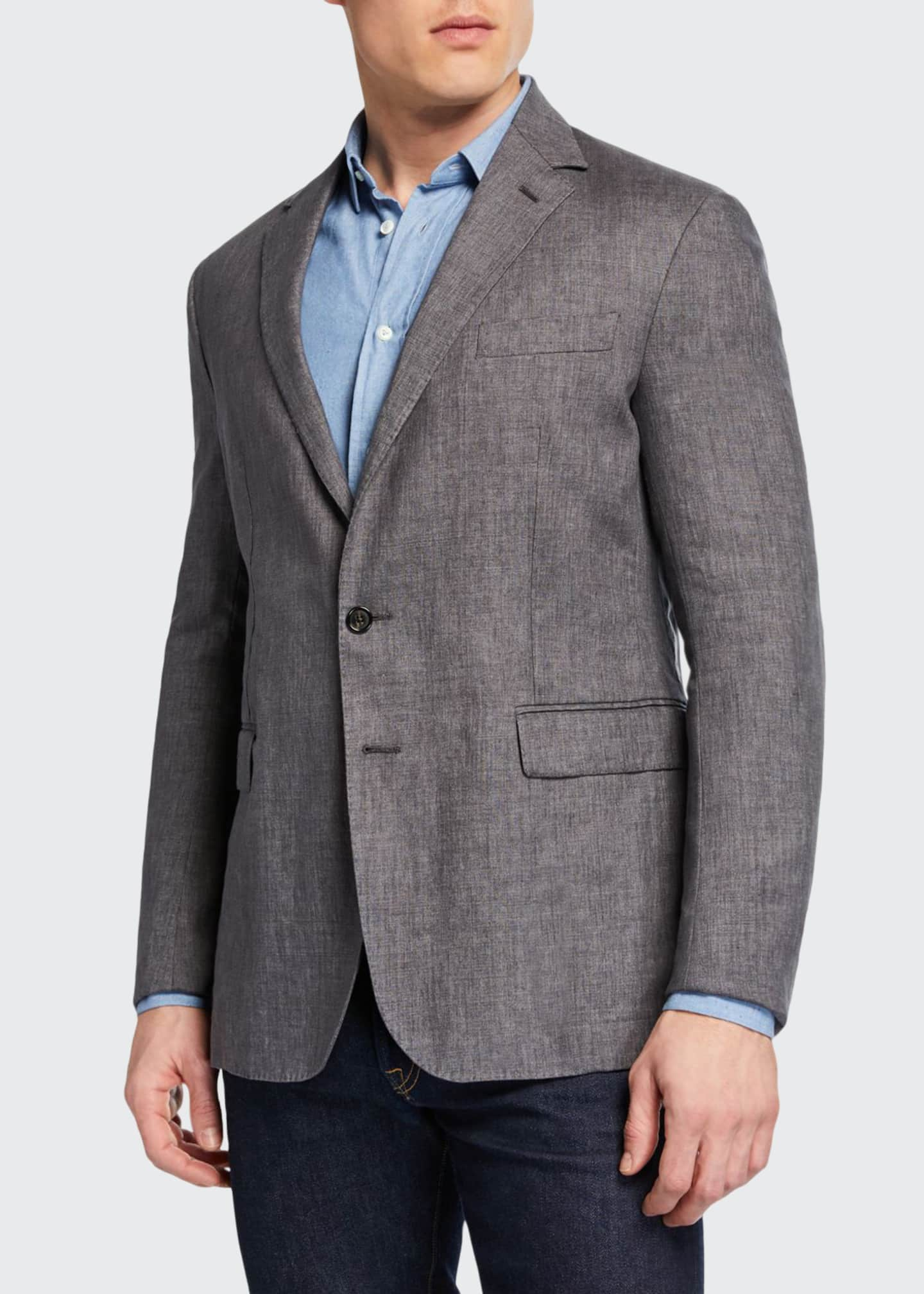 Ralph Lauren Men's Hadley Two-Button Linen Jacket