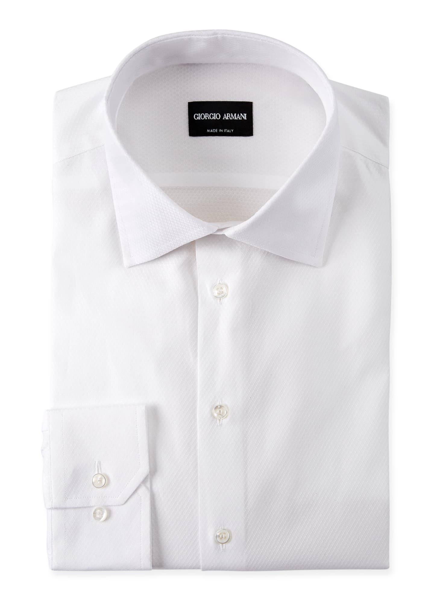 Giorgio Armani Men's Solid Textured Dress Shirt