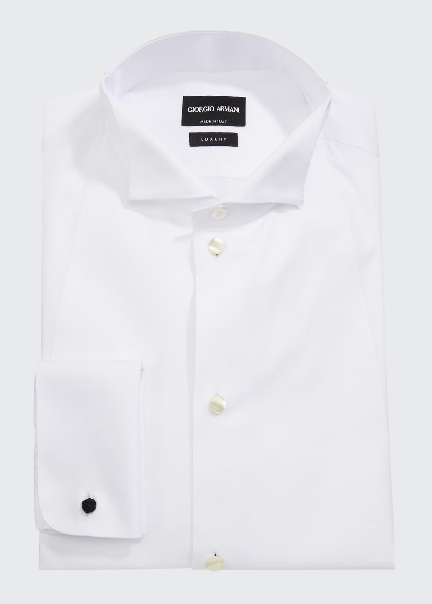 Giorgio Armani Men's Front Bib Formal Tuxedo Shirt