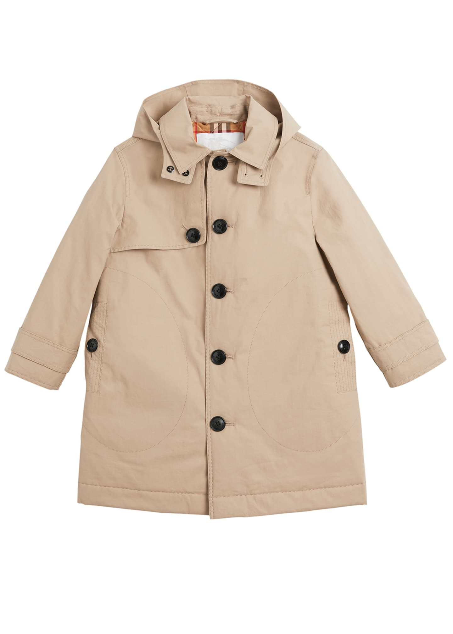 Image 1 of 2: Bradley Hooded Trench Coat, Size 3-14