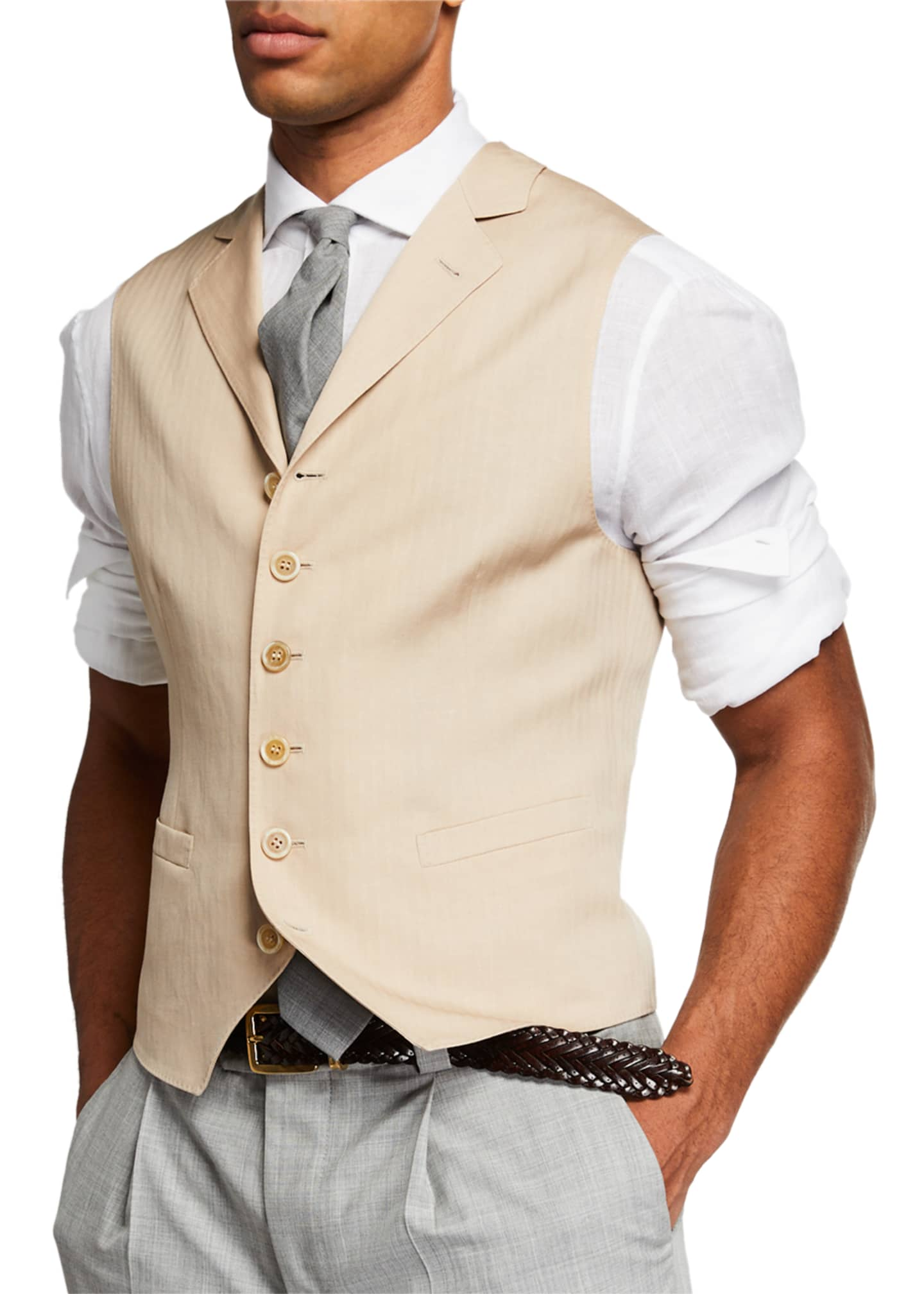 Brunello Cucinelli Men's Single Breasted Gilet Vest