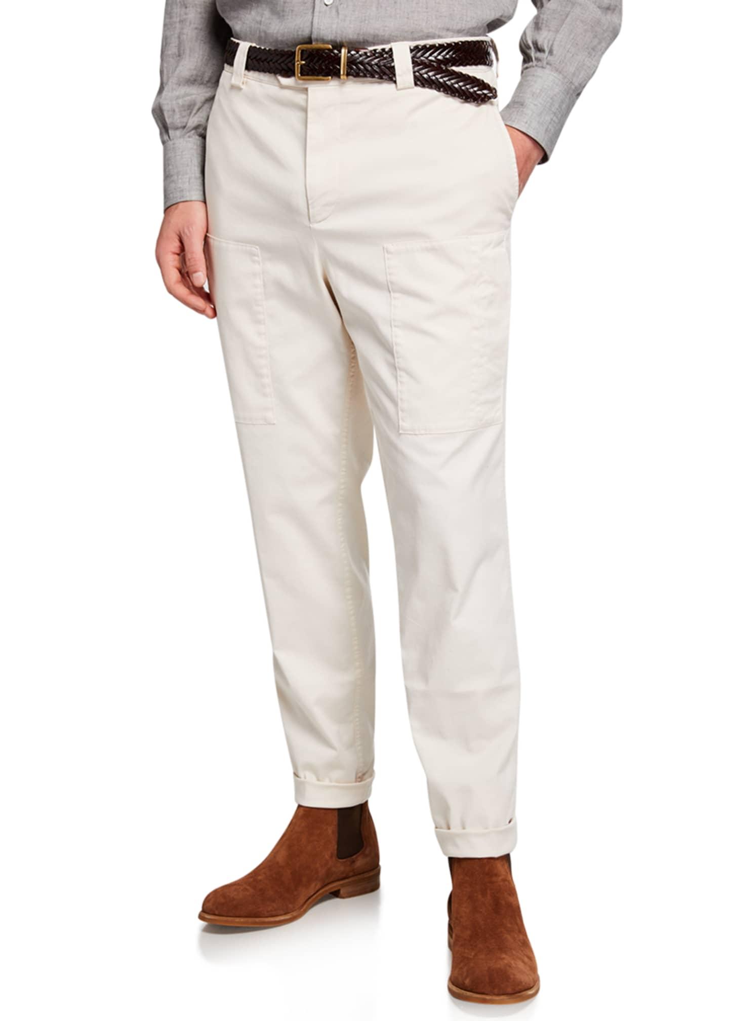 Brunello Cucinelli Men's Para Leisure-Fit Cargo Pants
