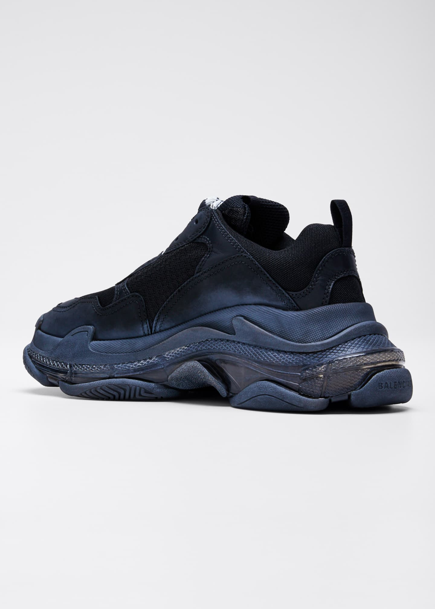 Image 4 of 5: Triple S Air Nylon Sneakers with Logo, Noir