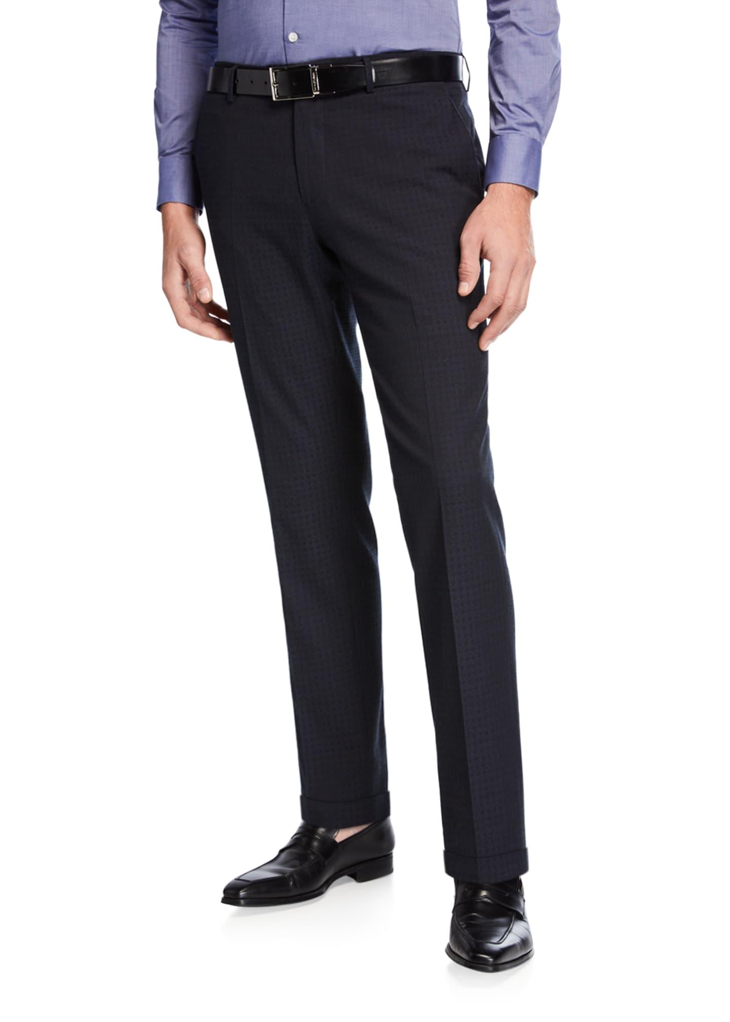 Etro Men's Casual Knit-Detail Pants