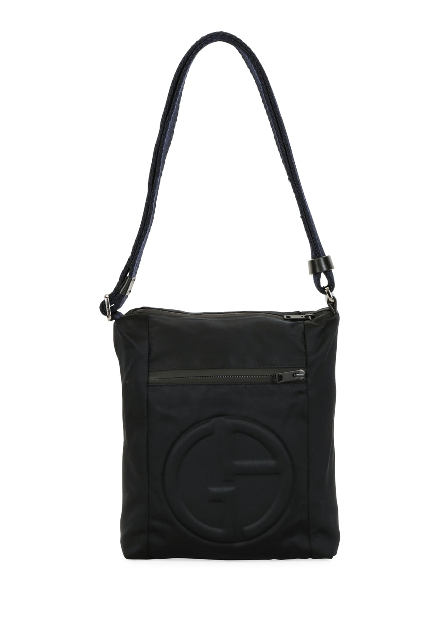 Image 2 of 4: Men's Logo-Embossed Crossbody Bag