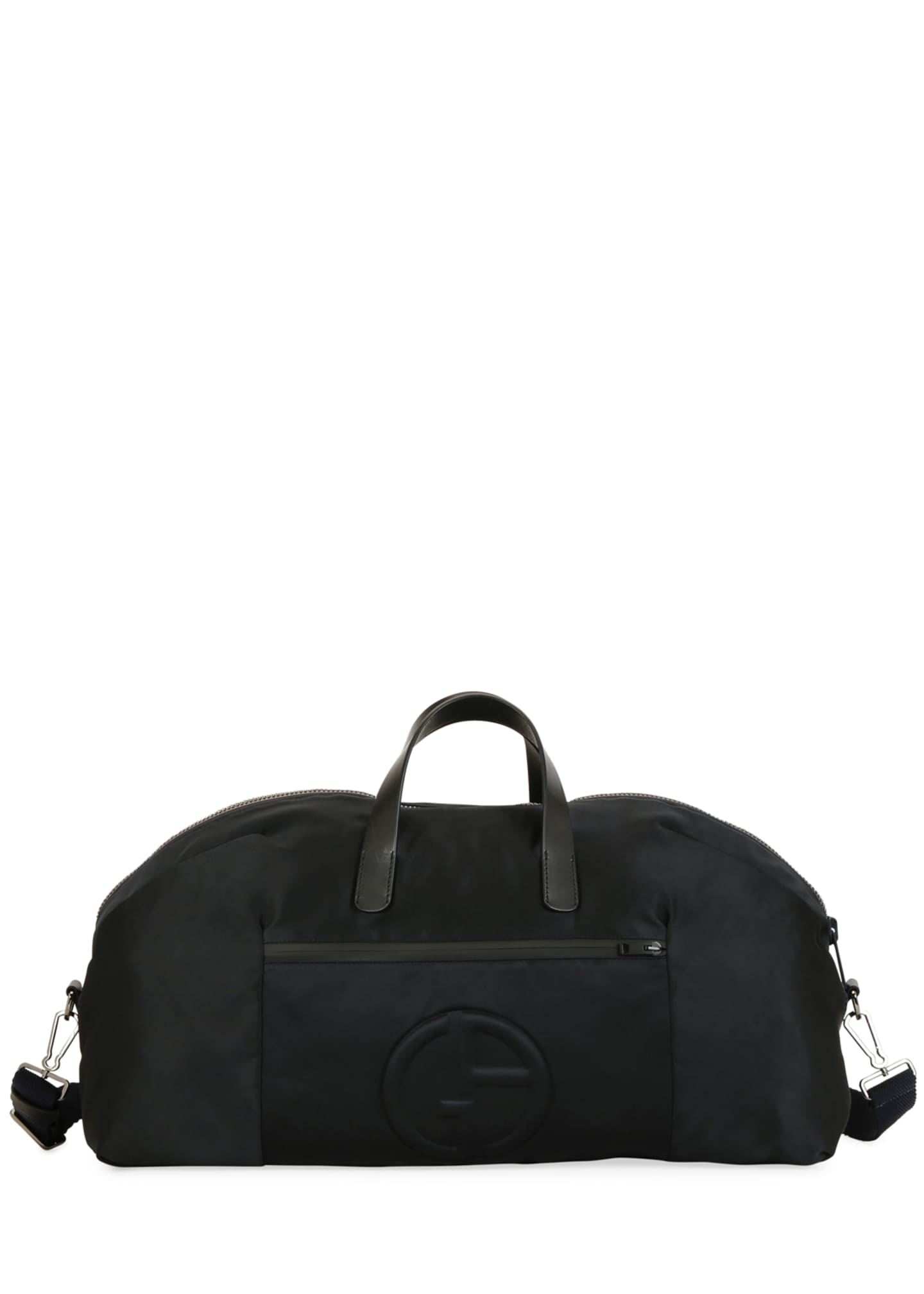 Image 2 of 4: Men's Nylon Carryall Duffel Bag, Black