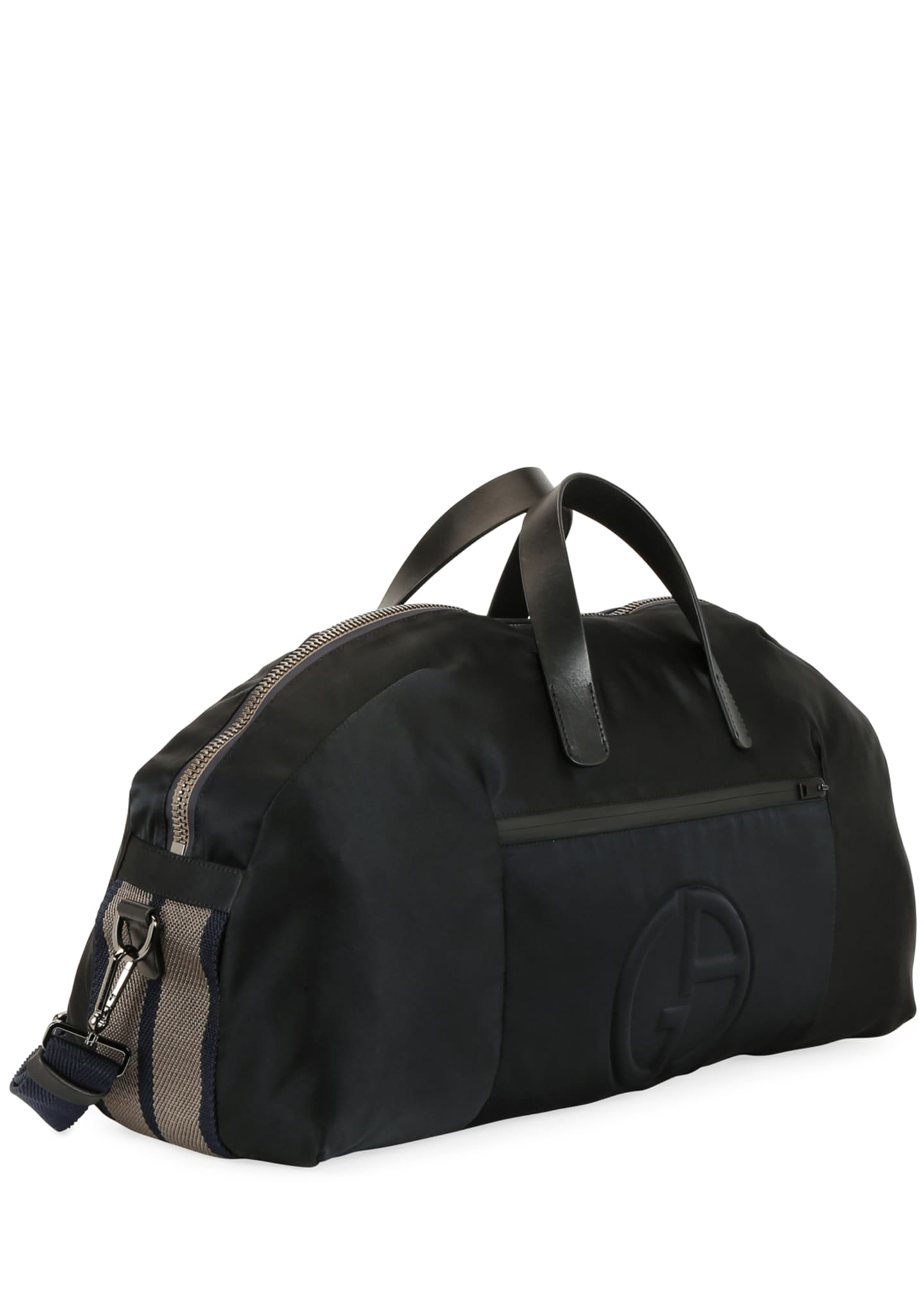 Image 3 of 4: Men's Nylon Carryall Duffel Bag, Black