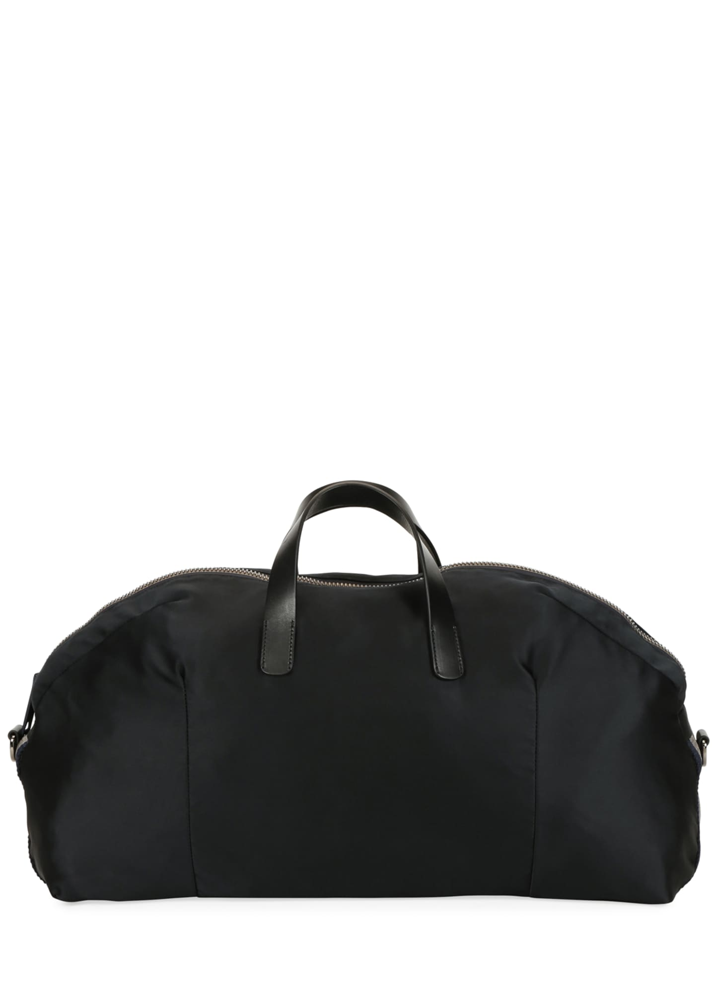 Image 4 of 4: Men's Nylon Carryall Duffel Bag, Black