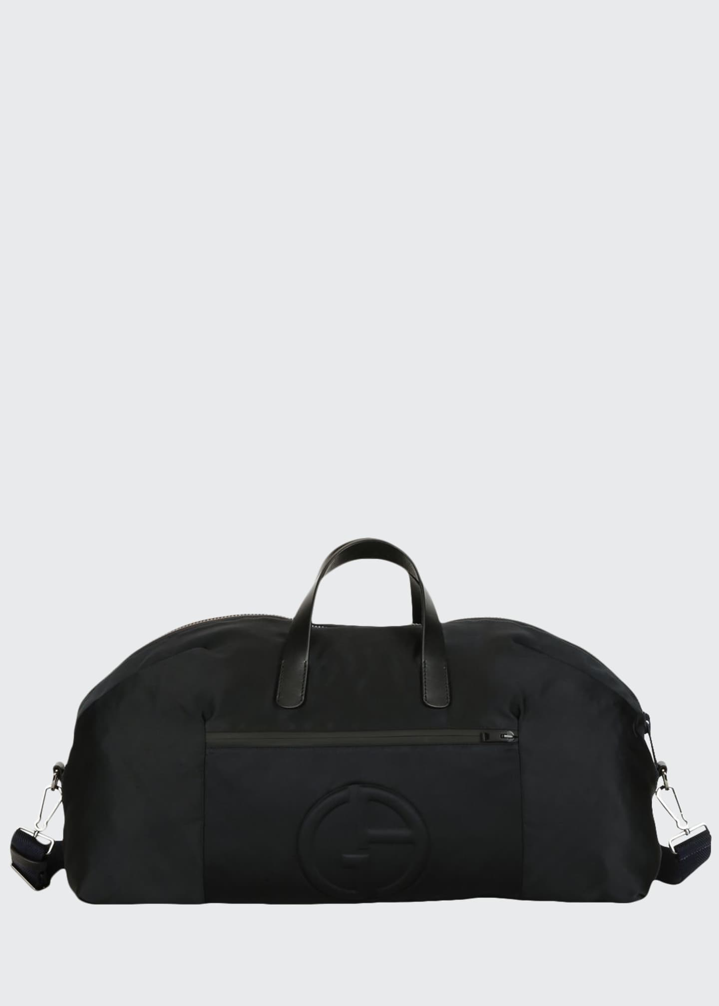 Image 1 of 4: Men's Nylon Carryall Duffel Bag, Black