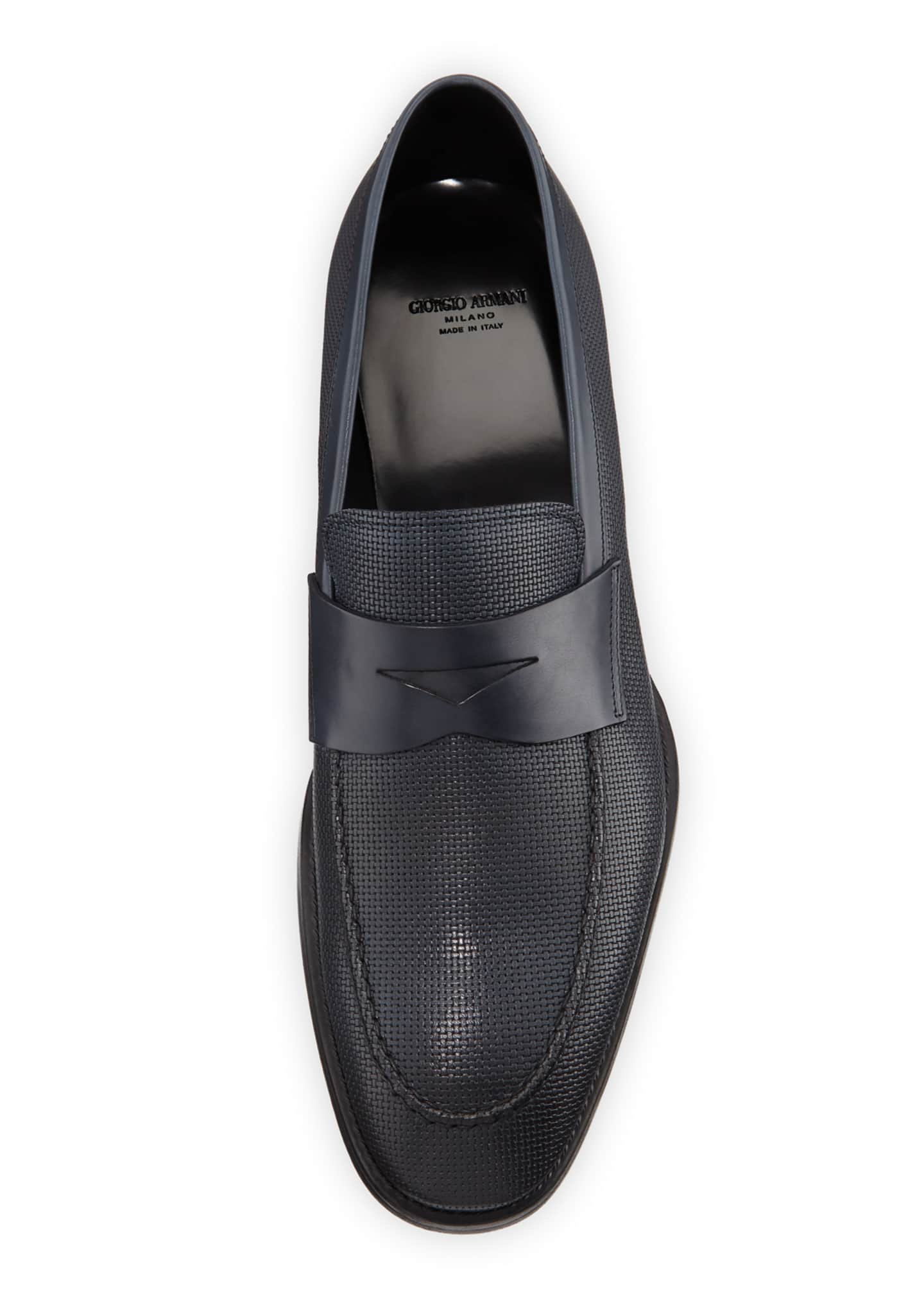 Image 2 of 3: Men's Leather Penny Loafers