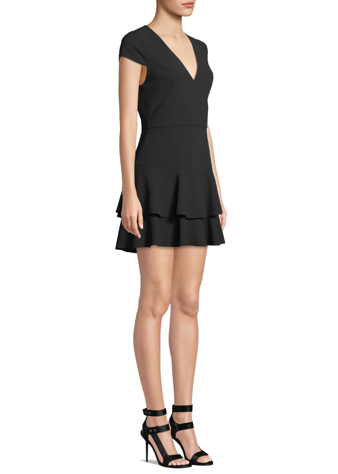 Image 3 of 3: Palmira V-Neck Ruffle Dress