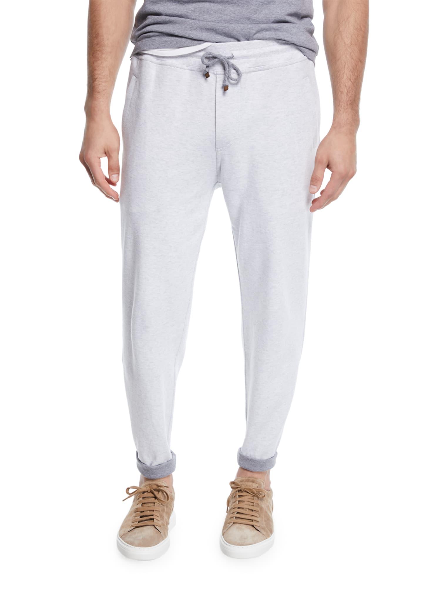 Brunello Cucinelli Men's Open Bottom Sweatpants