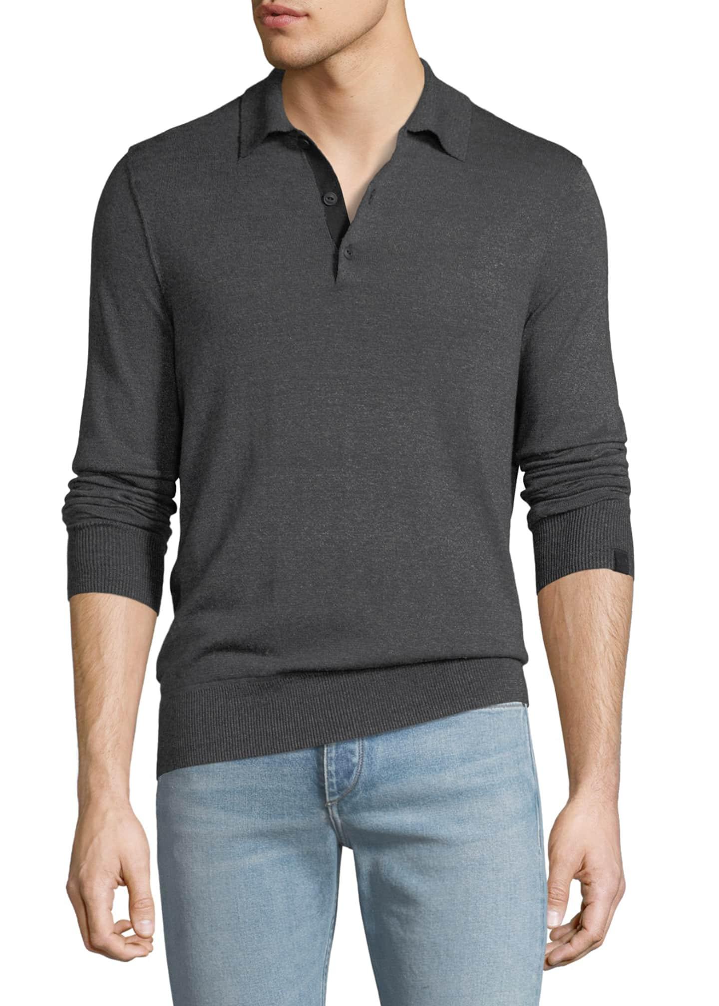 Rag & Bone Men's Dean Long-Sleeve Polo Shirt