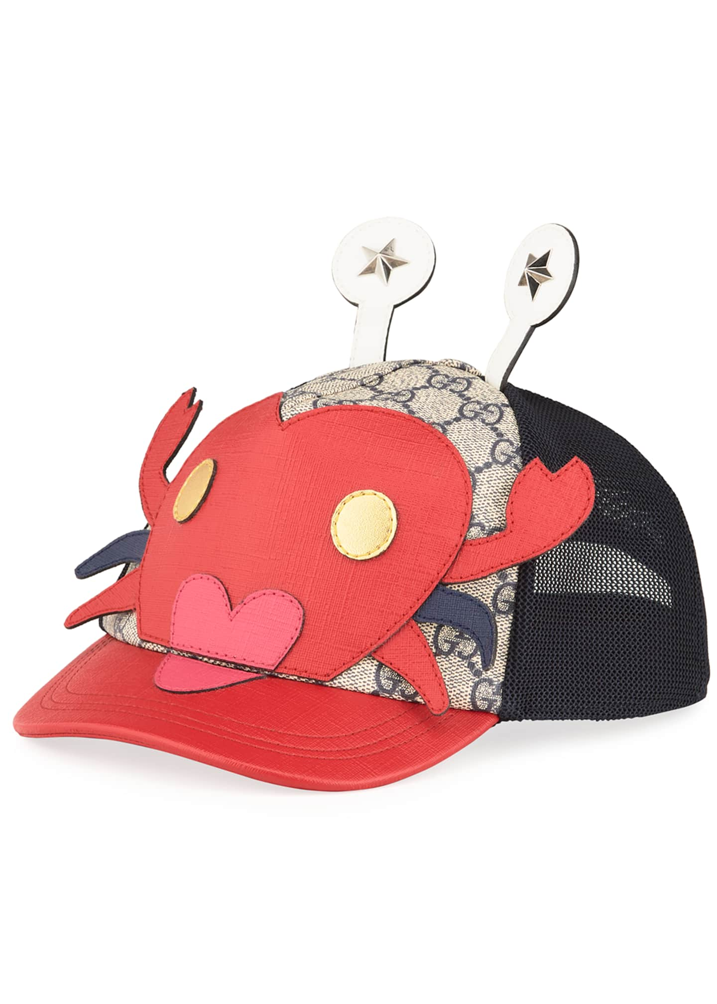 Image 1 of 1: Kid's Embroidered Crab Baseball Hat