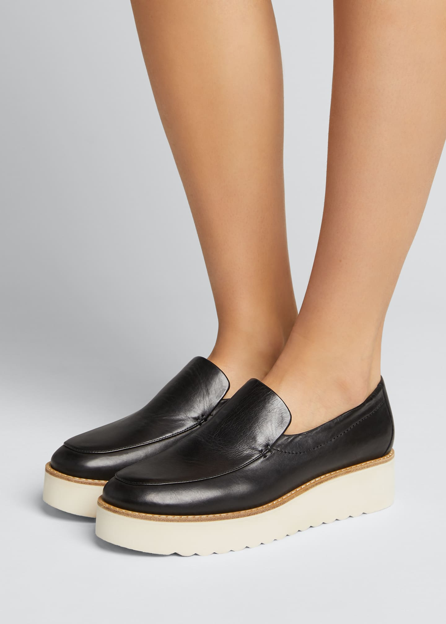 Image 2 of 5: Zeta Leather Platform Loafers