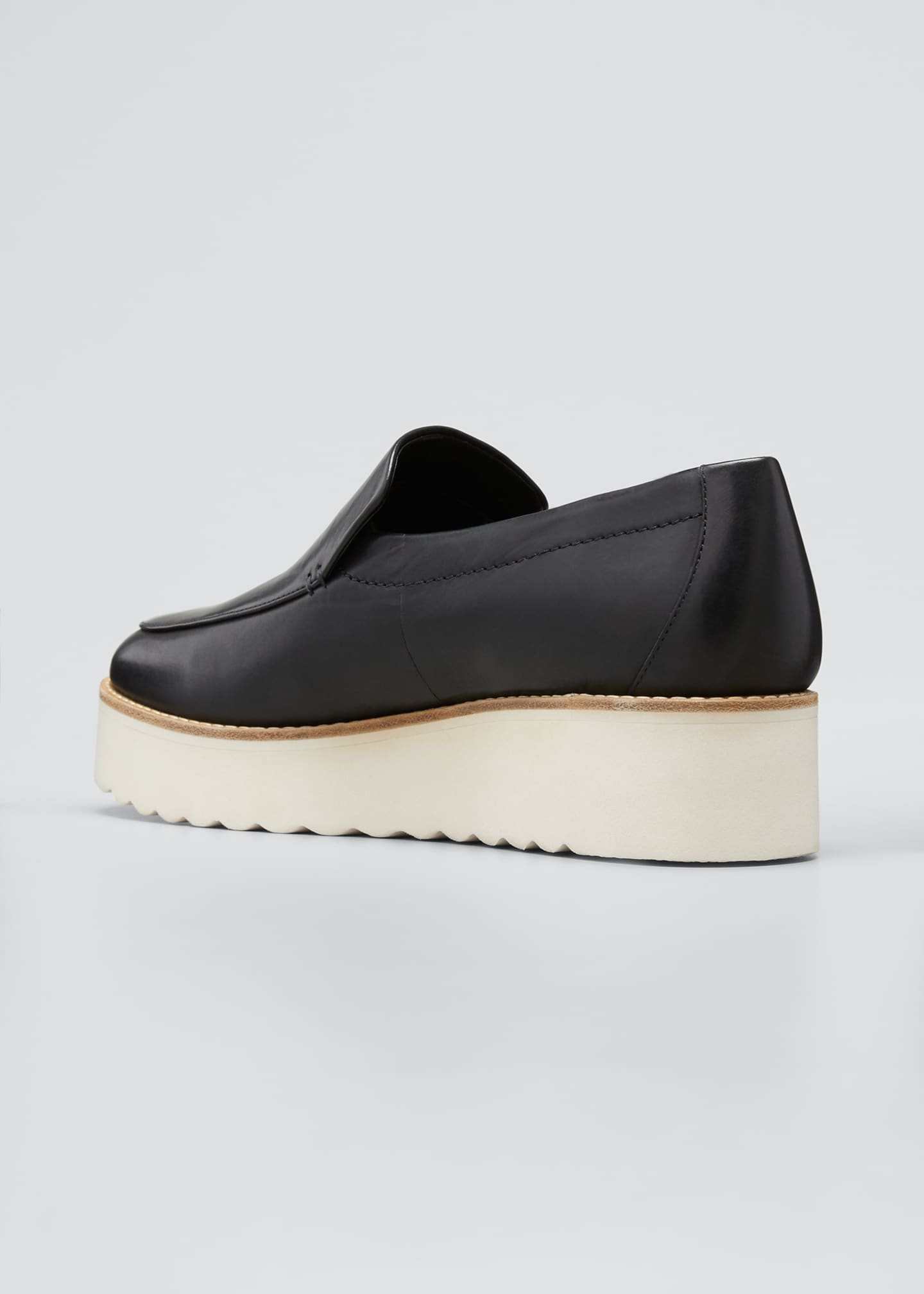 Image 4 of 5: Zeta Leather Platform Loafers
