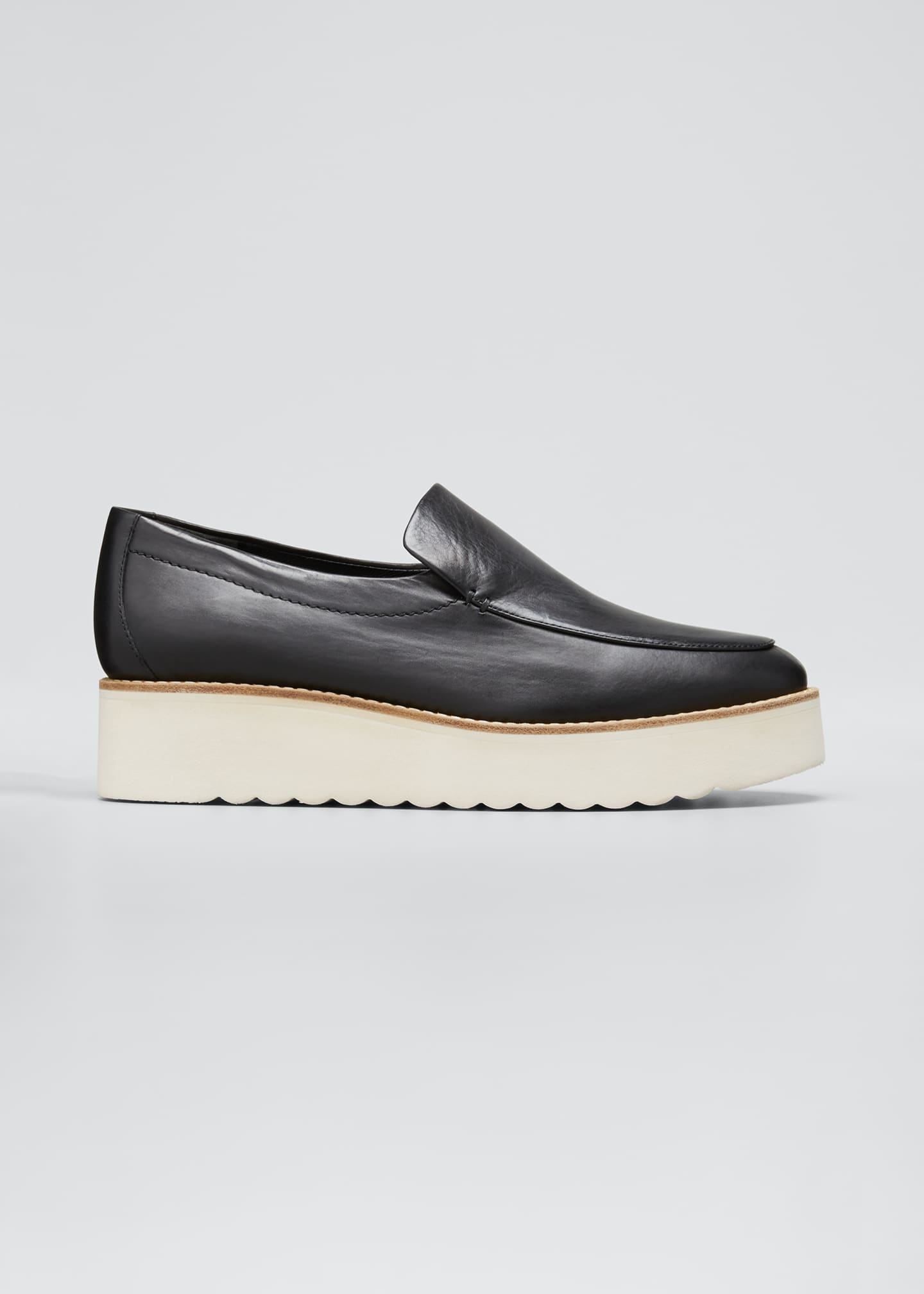 Image 1 of 5: Zeta Leather Platform Loafers