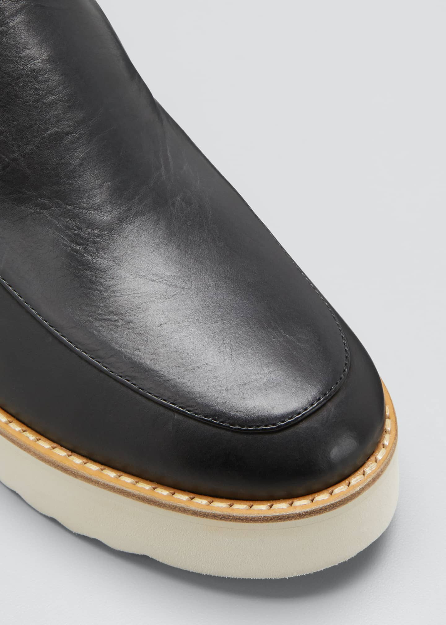 Image 5 of 5: Zeta Leather Platform Loafers