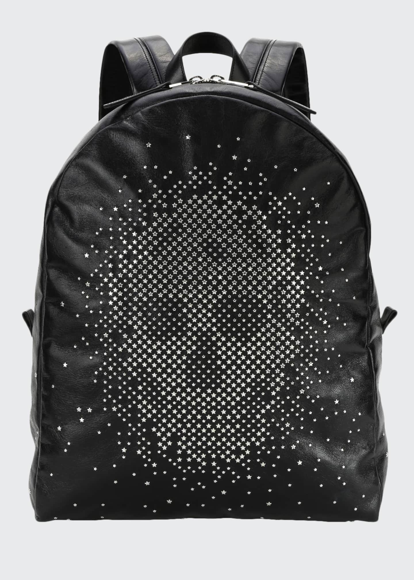 Alexander McQueen Men's Skull-Studded Leather Backpack
