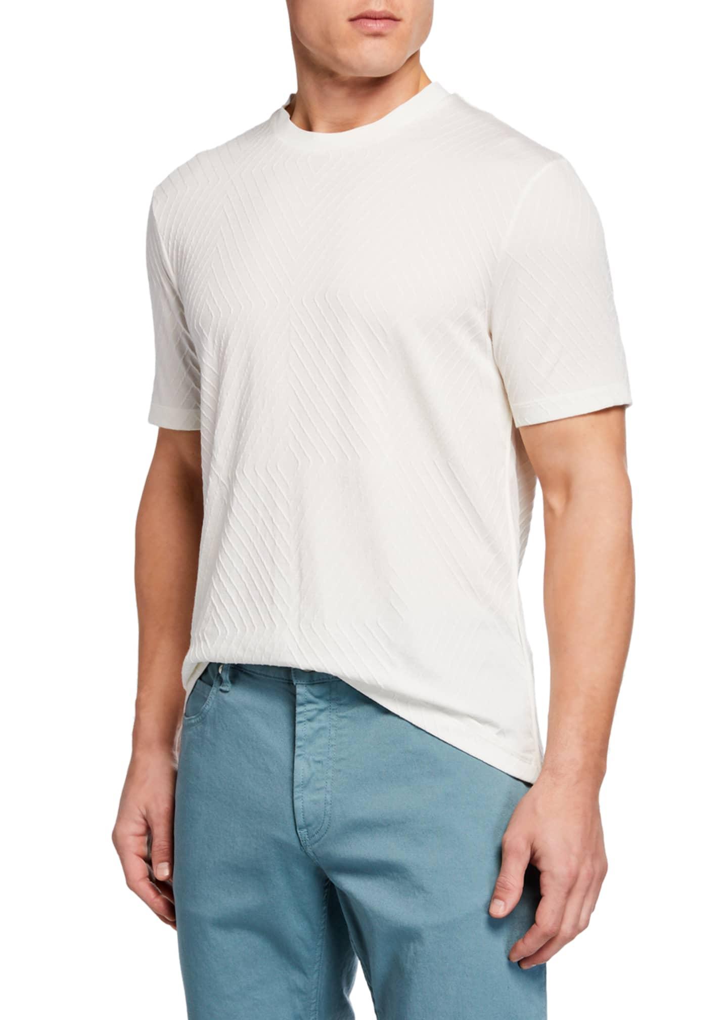 Giorgio Armani Men's Crewneck Jacquard T-Shirt
