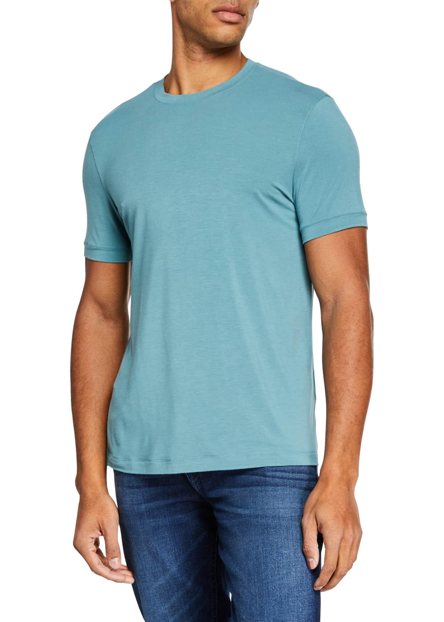 Giorgio Armani Men's Stretchy Crewneck T-Shirt