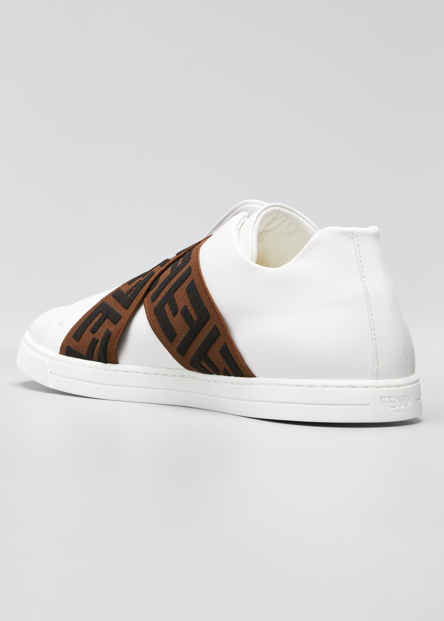 Image 2 of 3: Men's Laceless Leather FF-Strap Sneakers